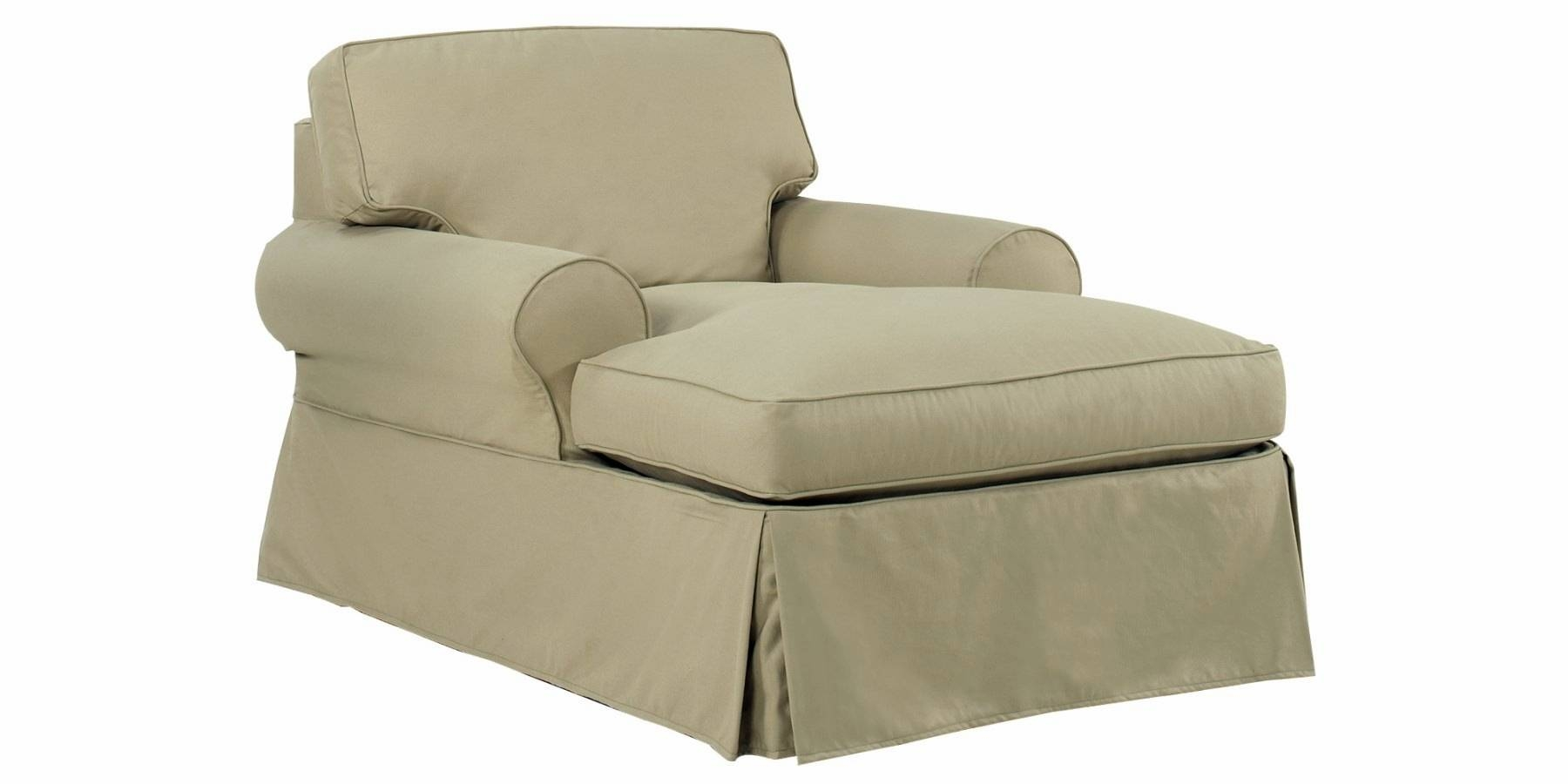 Chaise Chair Slipcover - Thesecretconsul within Slipcovers for Chaise Lounge Sofas (Image 1 of 15)