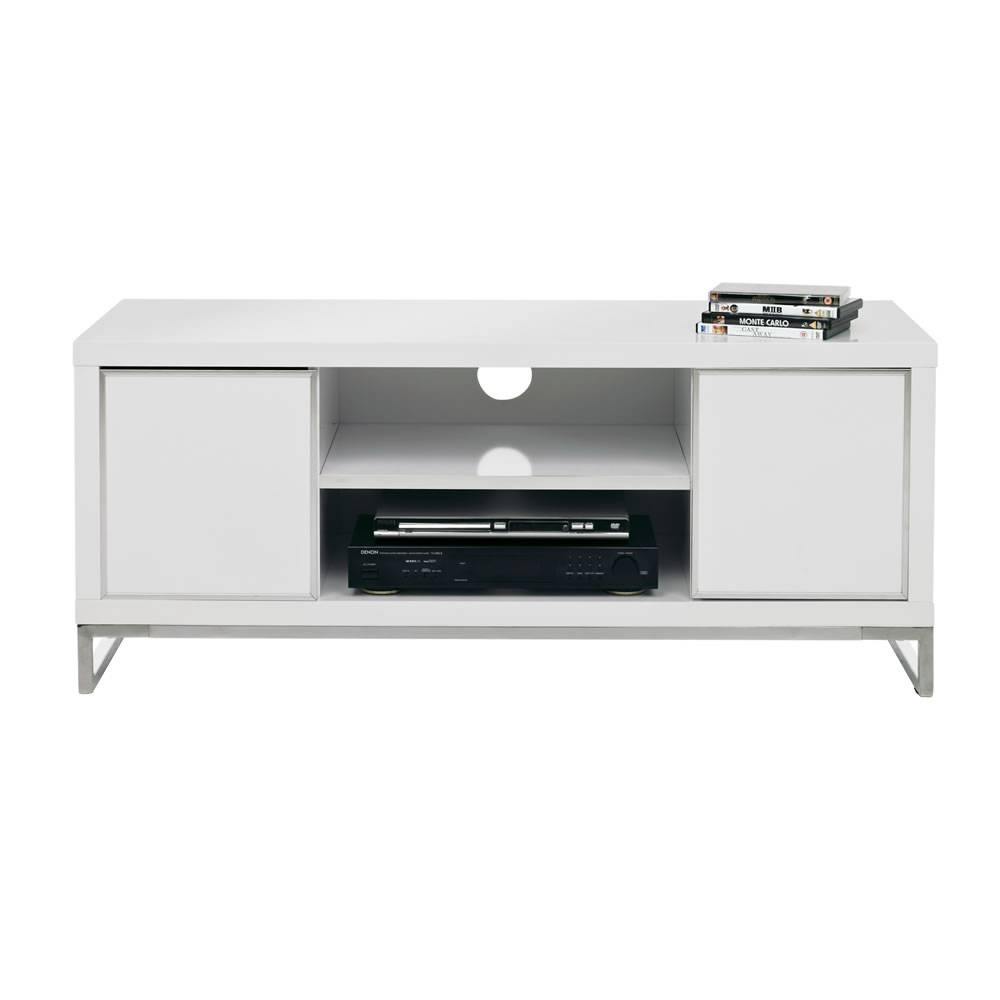 Charisma Tv Unit White At Wilko within White Gloss Tv Cabinets (Image 3 of 15)