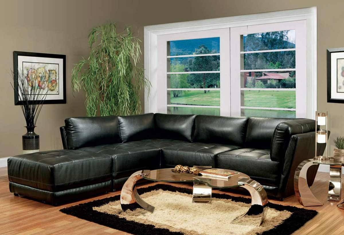 Charming Design Black Sofas Living Room Design Bright And Modern with Black Sofas Decors (Image 7 of 15)