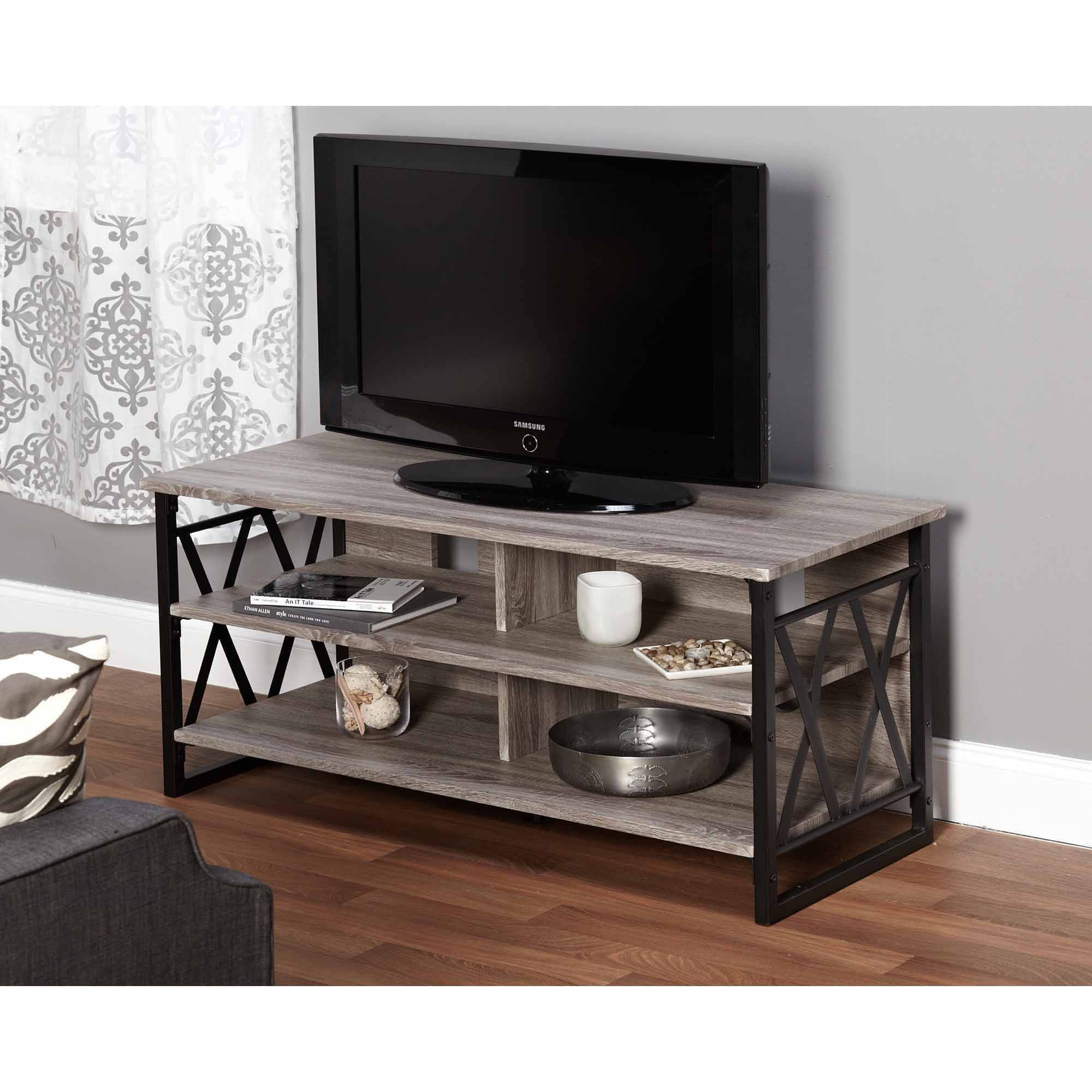 Charming Light Wood Tv Stand 75 For Your Home Decorating Ideas inside Grey Wood Tv Stands (Image 3 of 15)
