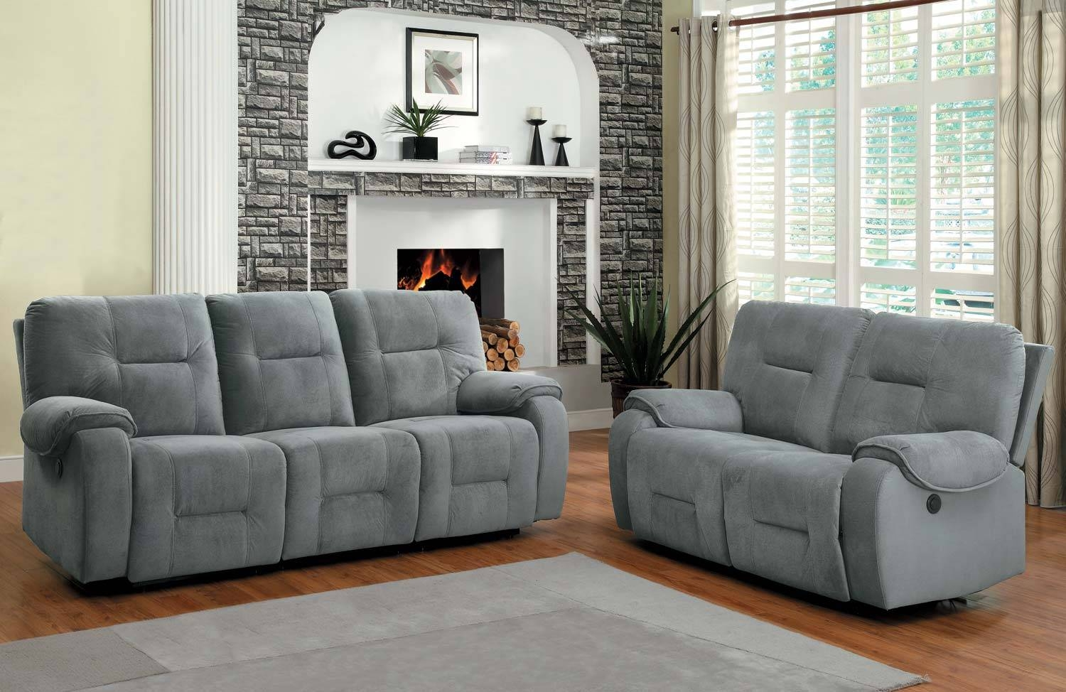 Cheap Reclining Sofa And Loveseat Sets | Centerfieldbar within Blue Grey Sofas (Image 3 of 15)