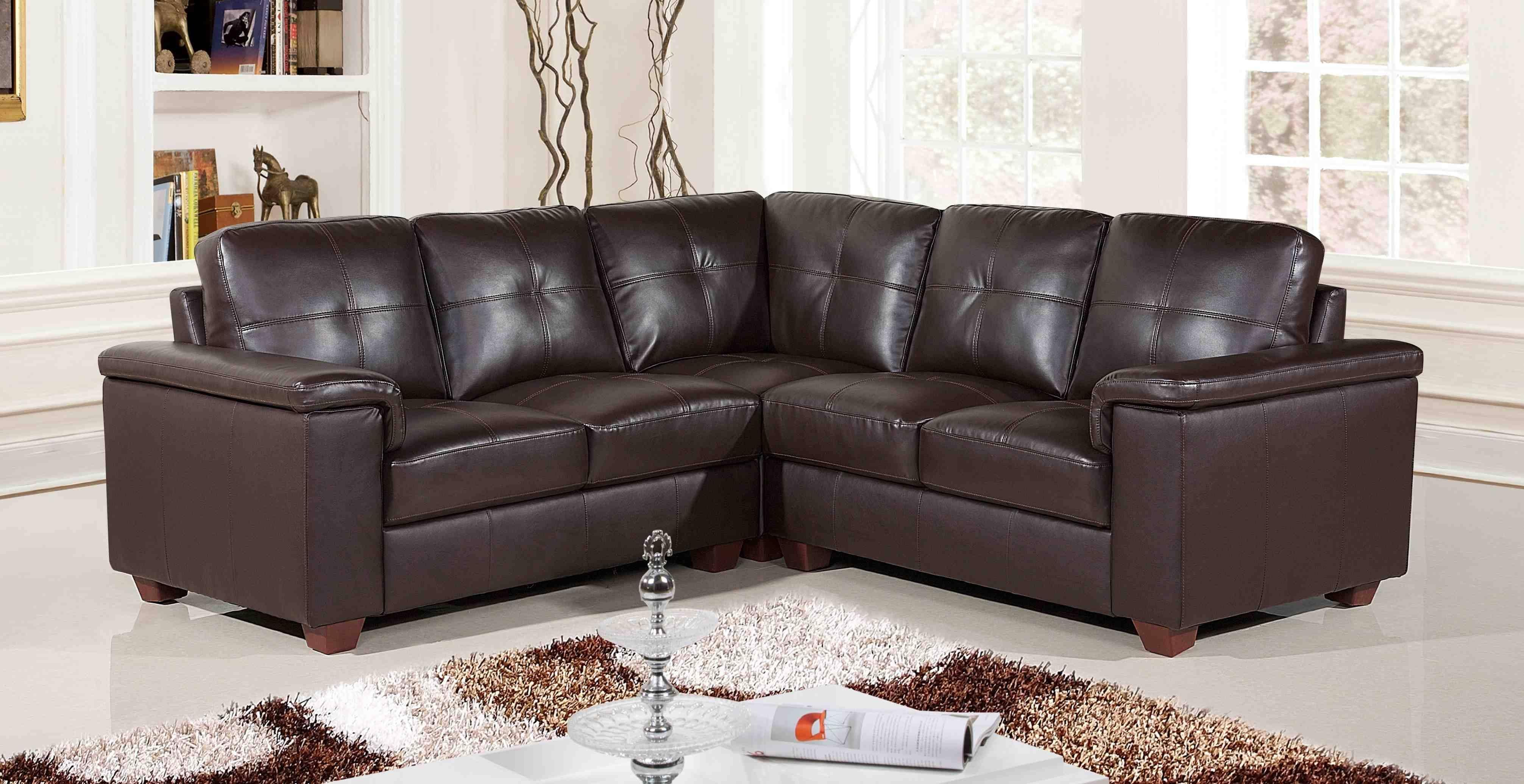 Cheapest Black Leather Corner Sofa | Centerfieldbar throughout Black Leather Corner Sofas (Image 4 of 15)