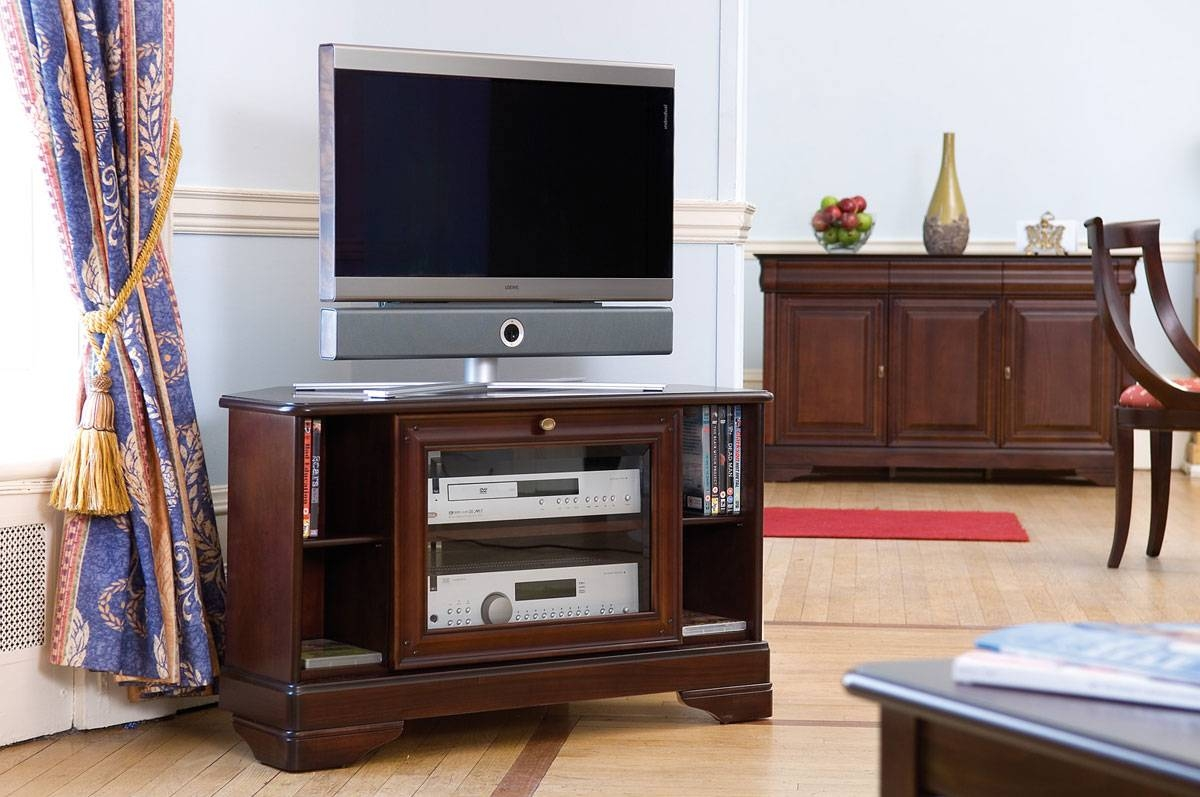 Cherry Wide Tv Stand | Gola Furniture Uk with Mahogany Tv Cabinets (Image 4 of 15)