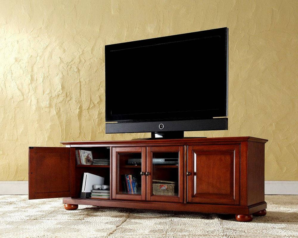 Cherrywood Tv Stand Cherry Wood Tv Stand With Electric Fireplace With Regard To Cherry Wood Tv Stands (View 8 of 15)