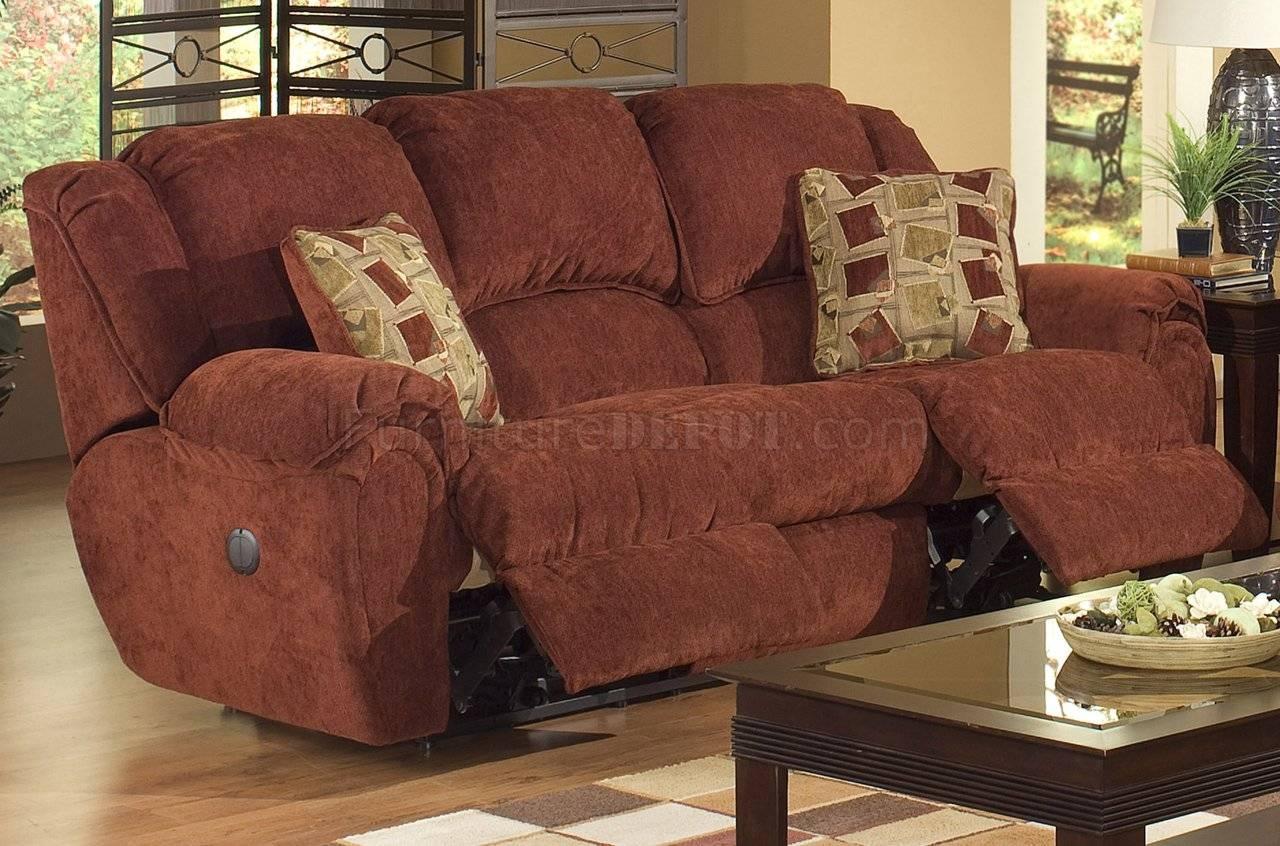Chianti Fabric Modern Conrad Reclining Sofa W/options Pertaining To Catnapper Recliner Sofas (View 6 of 15)