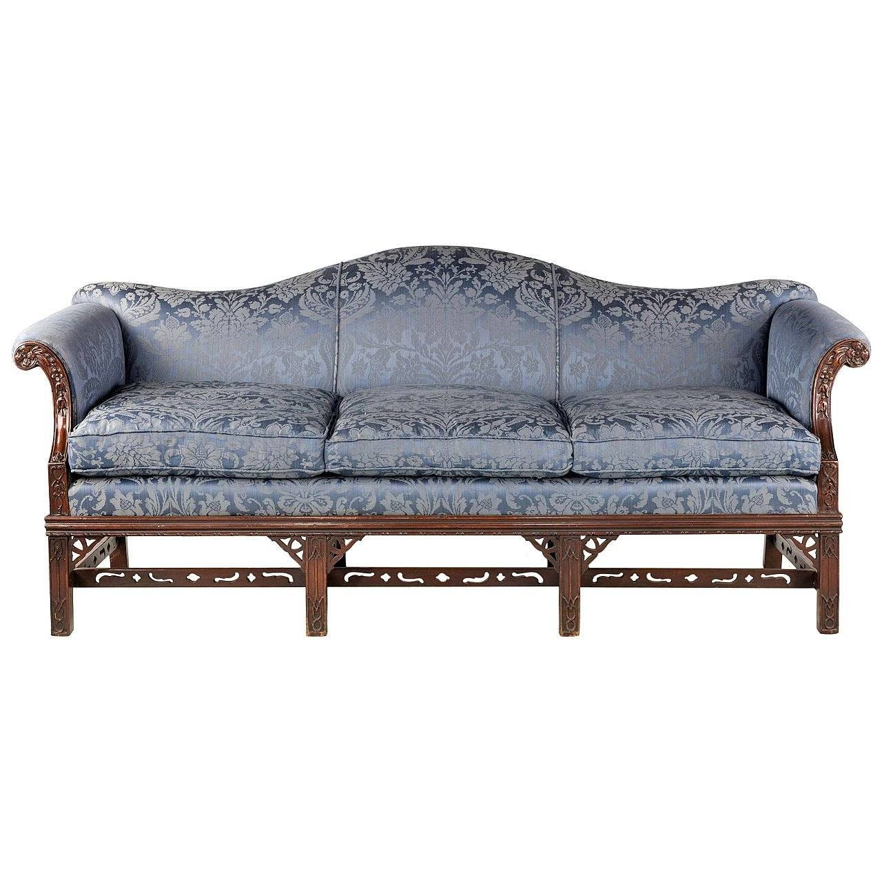 Chippendale Style Mahogany Framed Camel Back Sofa At 1Stdibs in Chippendale Camelback Sofas (Image 8 of 15)