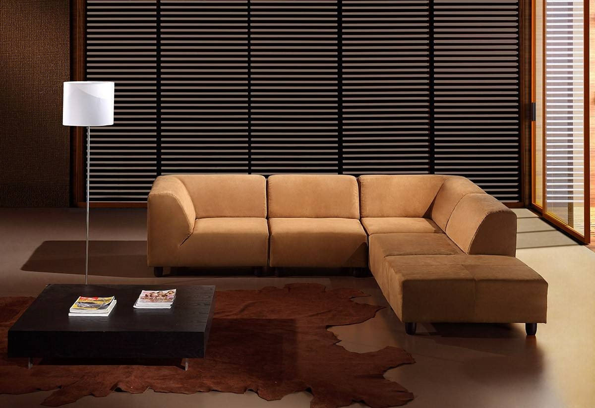 Choosing Between Leather And Fabric Modern Sofas – La Furniture Blog Within Caramel Leather Sofas (View 3 of 15)
