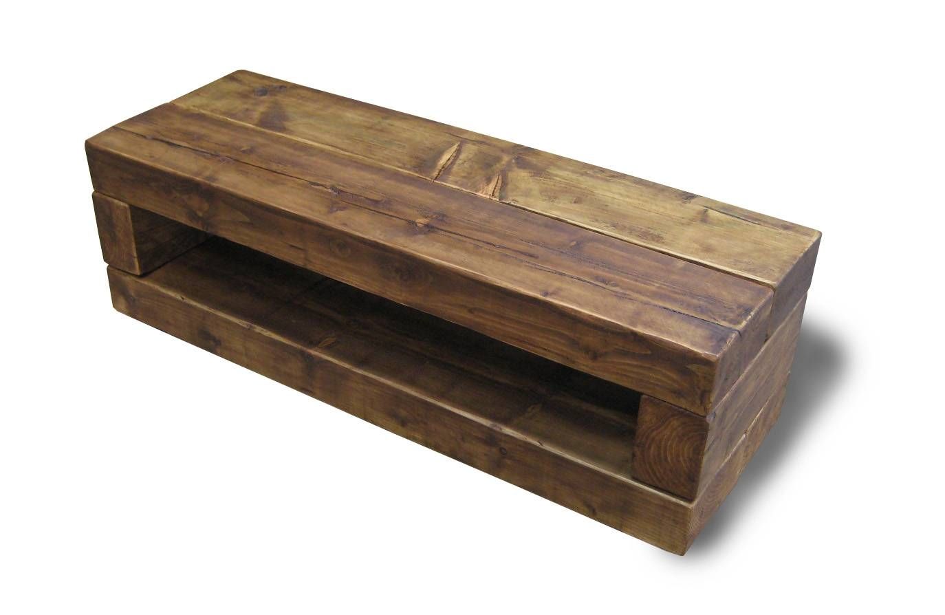 Chunky Stretch Tv Stand - The Cool Wood Company intended for Chunky Oak Tv Unit (Image 3 of 15)
