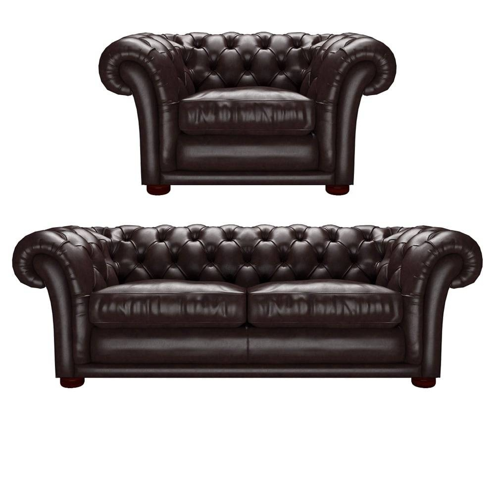 Churchill 3 Seater And Churchill Chair Old English Smoke - From within Churchill Sofas (Image 4 of 15)