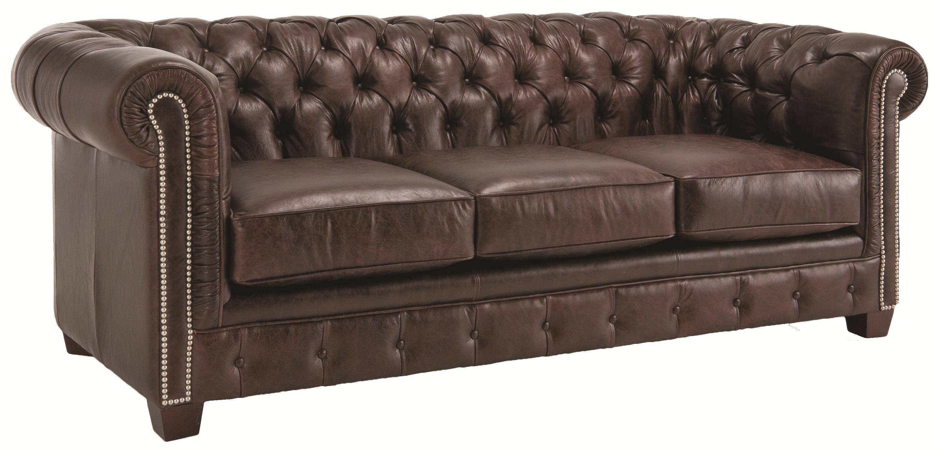 Churchill Tufted Leather Sofa – within Churchill Sofas (Image 11 of 15)