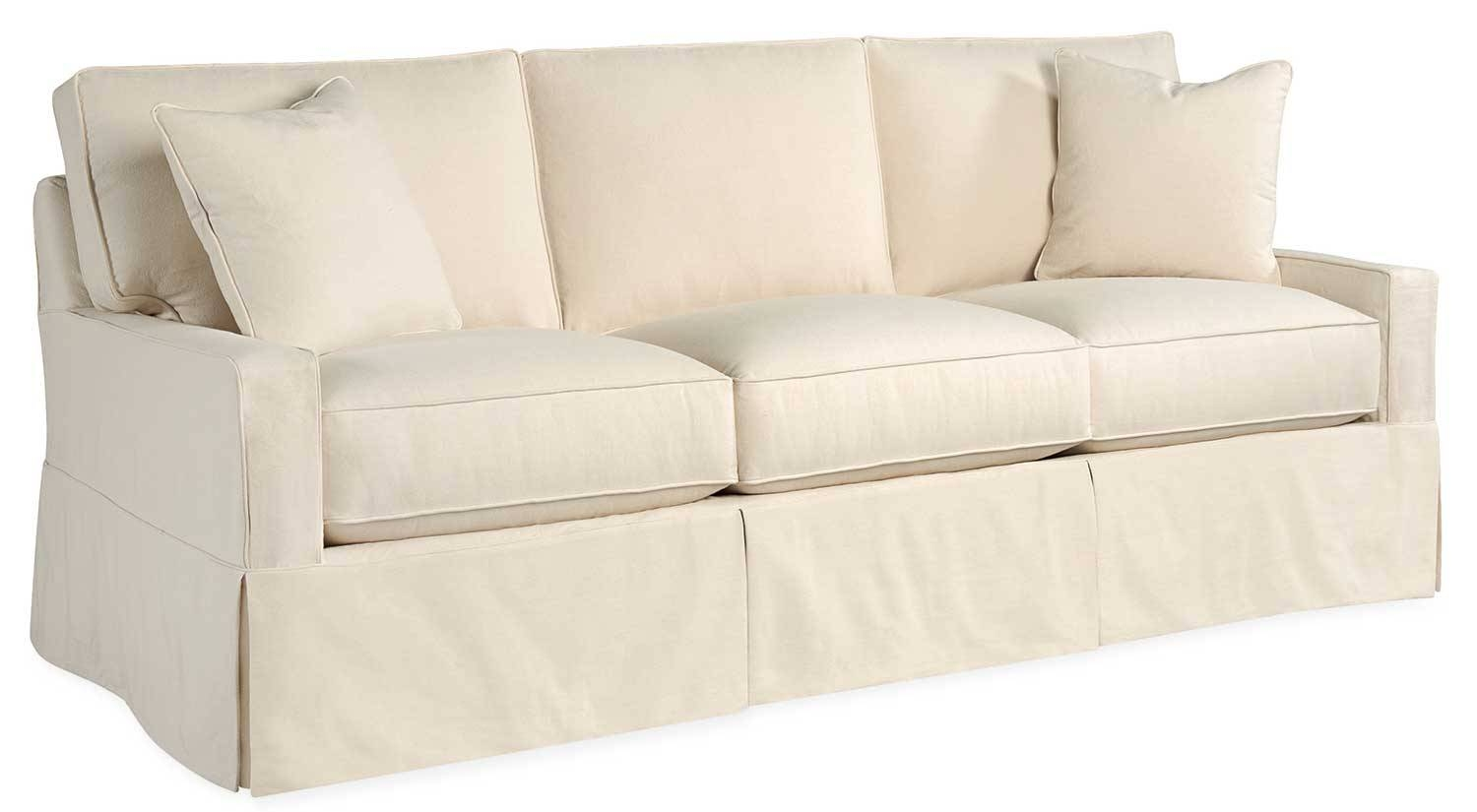 Circle Furniture   Fritz Slipcovered Sofa | Casual Sofa Pertaining To Slipcovers For 3 Cushion Sofas (Photo 11 of 15)