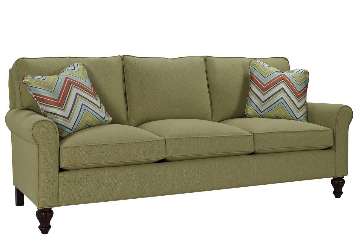 Classic Comfort Curved Arm Three Loose Pillow Back Sofa | Wayfair intended for Loose Pillow Back Sofas (Image 2 of 15)