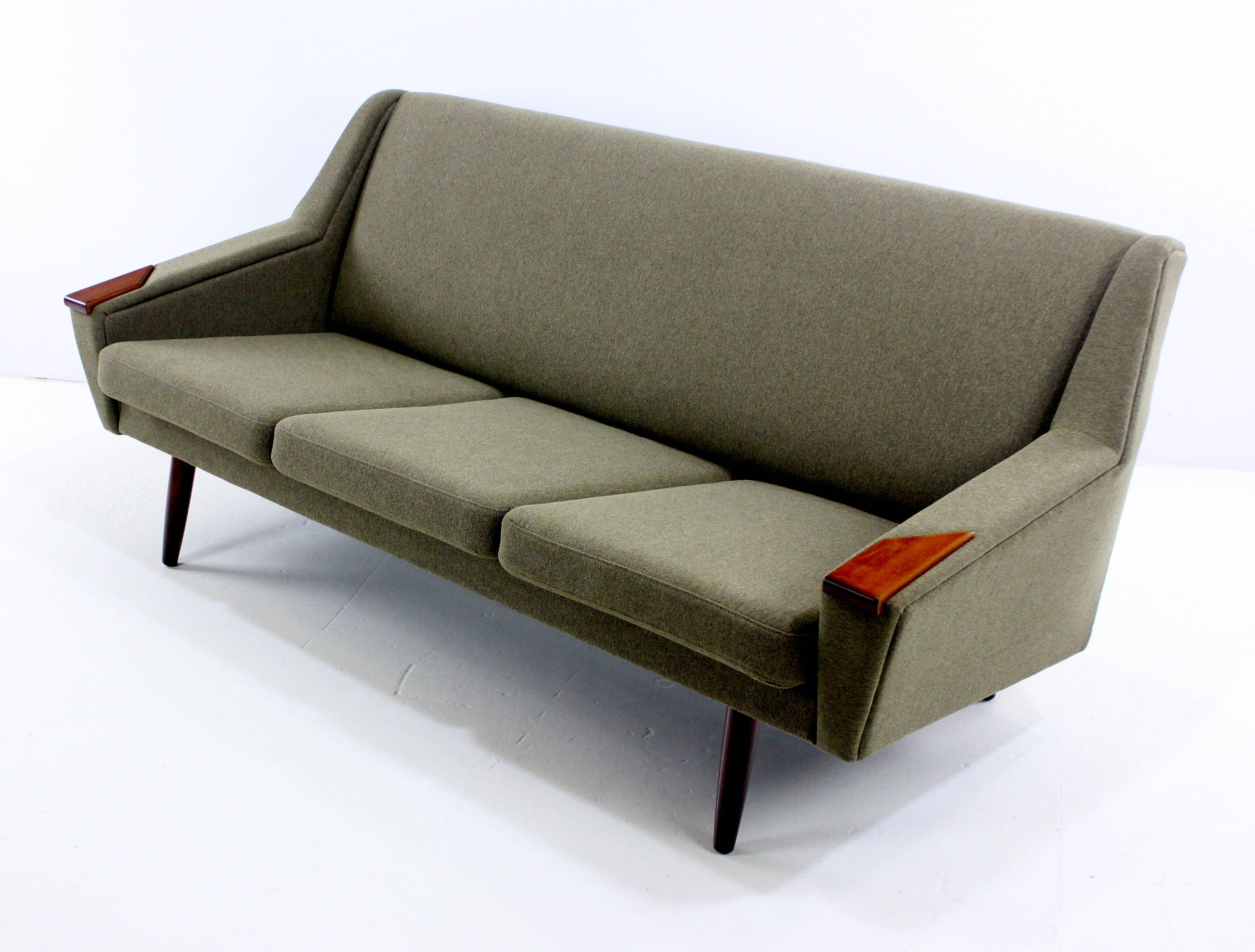 Classic Danish Modern Sofa W / Teak Arm Accents - Lookmodern within Modern Danish Sofas (Image 1 of 15)