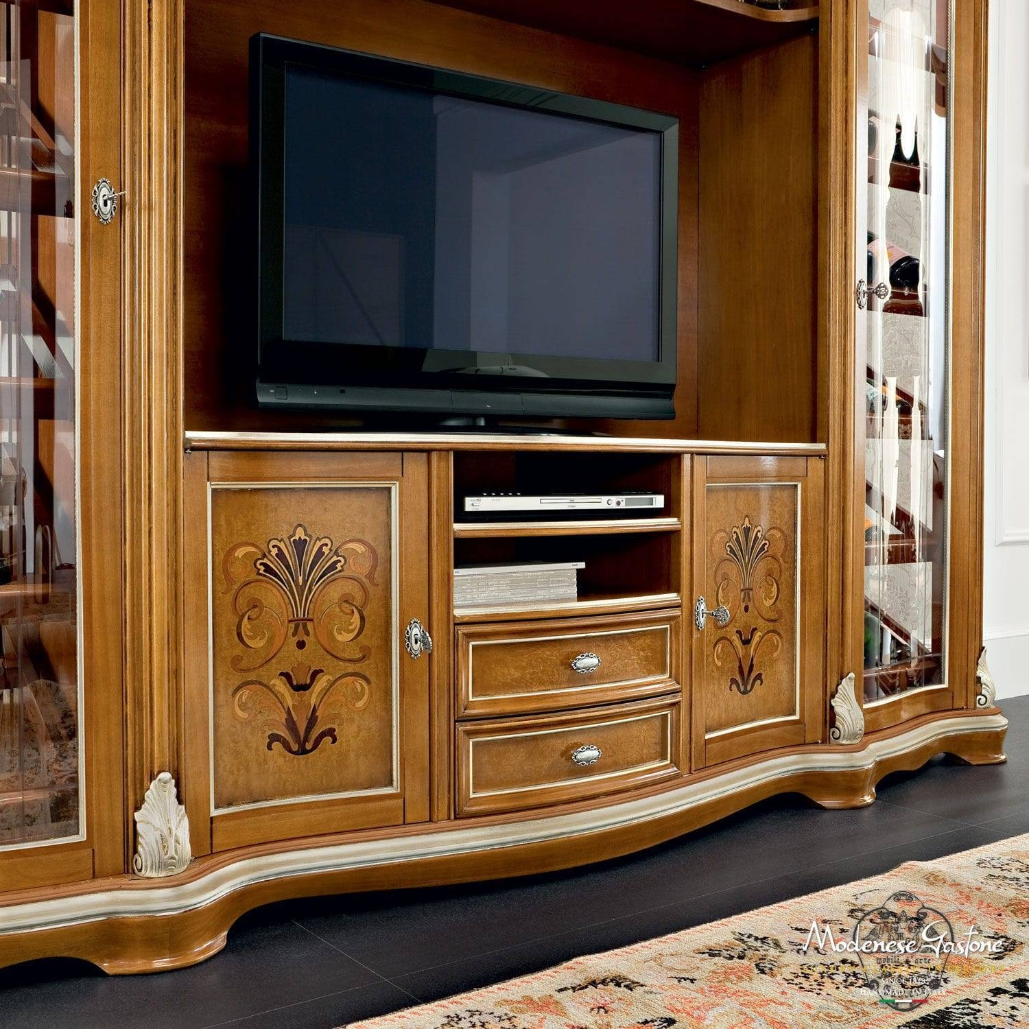 Classic Tv Cabinet / Solid Wood – Bella Vita – Modenese Gastone For Classic Tv Cabinets (View 3 of 15)