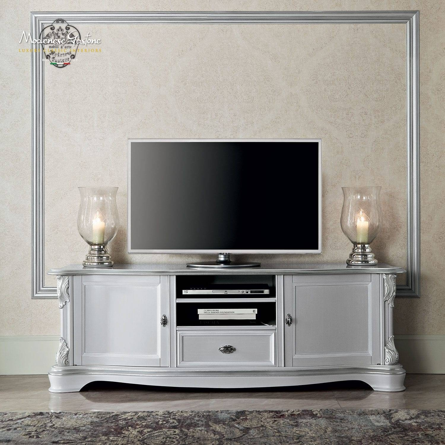 Classic Tv Cabinet / Solid Wood - Bella Vita - Modenese Gastone throughout Classic Tv Cabinets (Image 4 of 15)