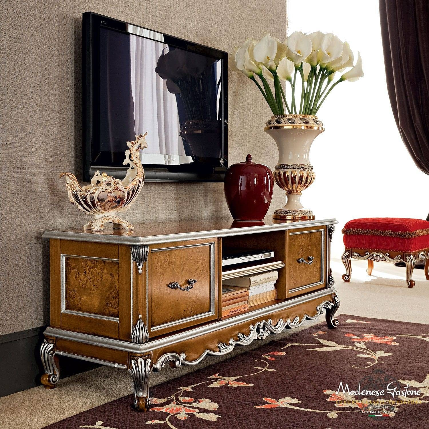 Classic Tv Cabinet / Wooden - Casanova - Modenese Gastone Luxury inside Classic Tv Stands (Image 3 of 15)