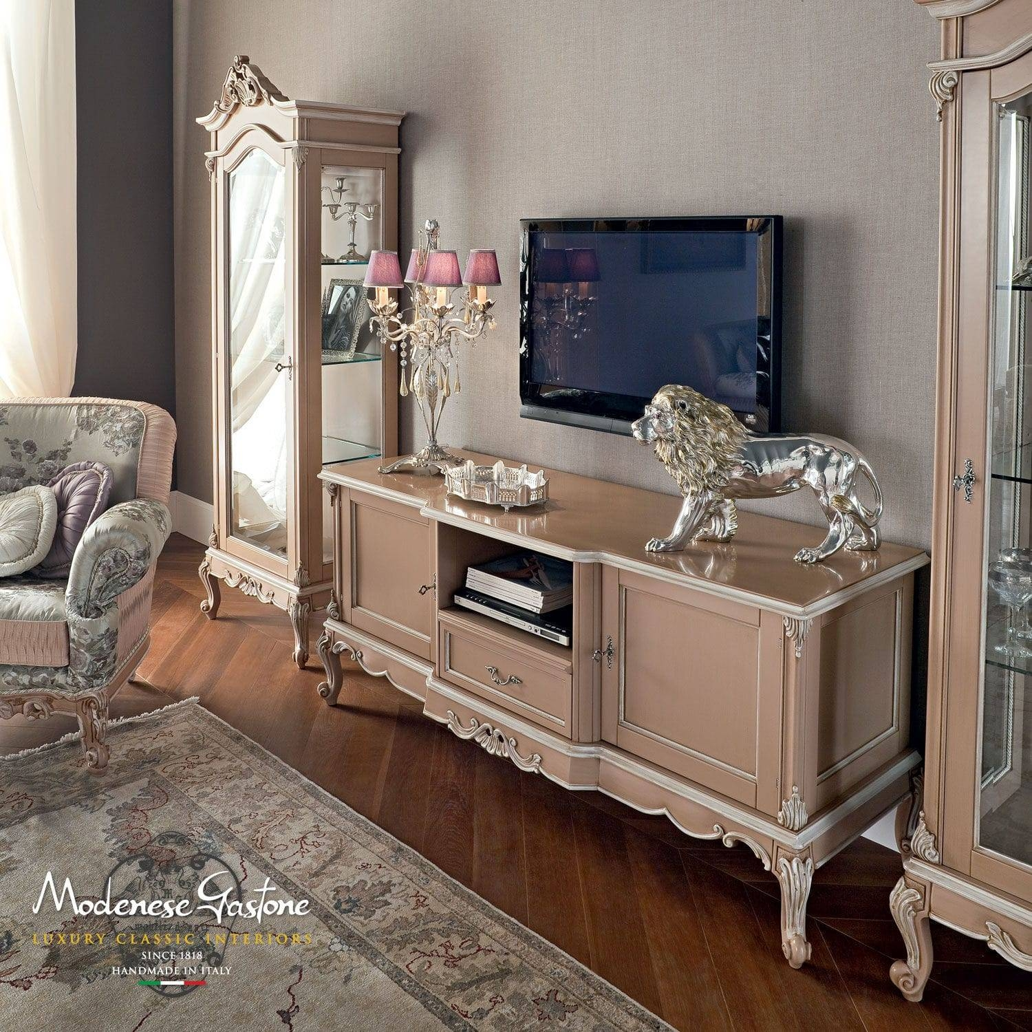 Classic Tv Cabinet / Wooden - .casanova - Modenese Gastone Luxury with Classic Tv Cabinets (Image 5 of 15)