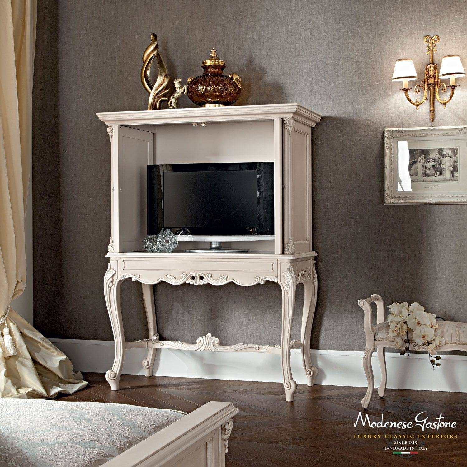 Classic Tv Cabinet / Wooden - Casanova - Modenese Gastone Luxury with regard to Classic Tv Cabinets (Image 9 of 15)