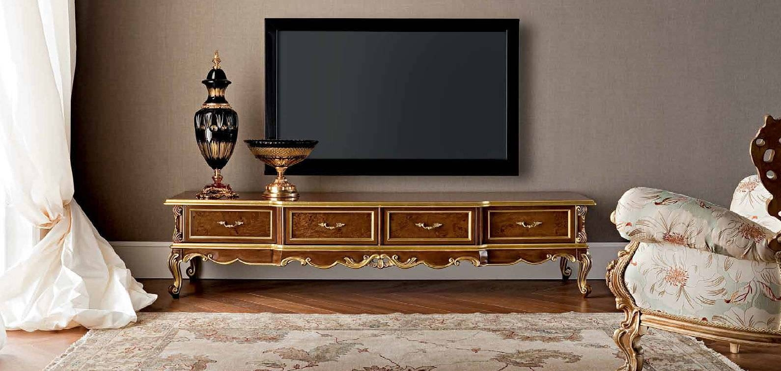 Classic Tv Cabinet / Wooden – (View 7 of 15)