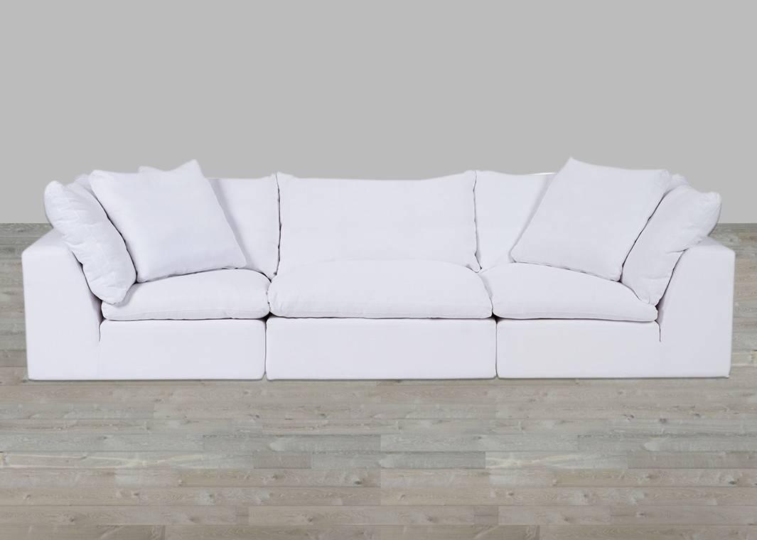 Cloud Modular Preconfigured Fabric Sofa throughout Cloud Sectional Sofas (Image 5 of 15)