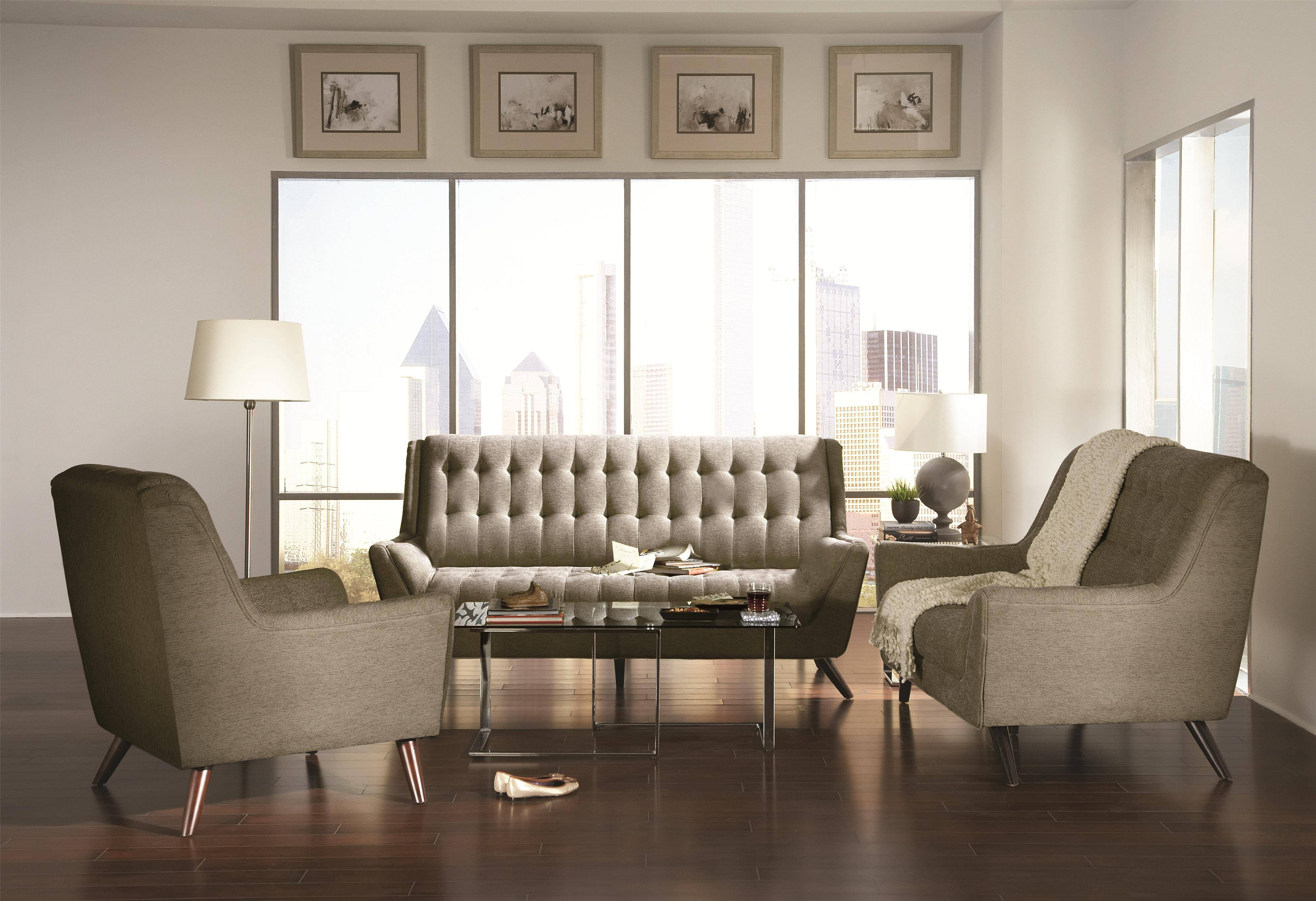 Coaster Natalia Contemporary Sectional Sofa – Coaster Fine Furniture Within Coasters Sofas (View 9 of 15)
