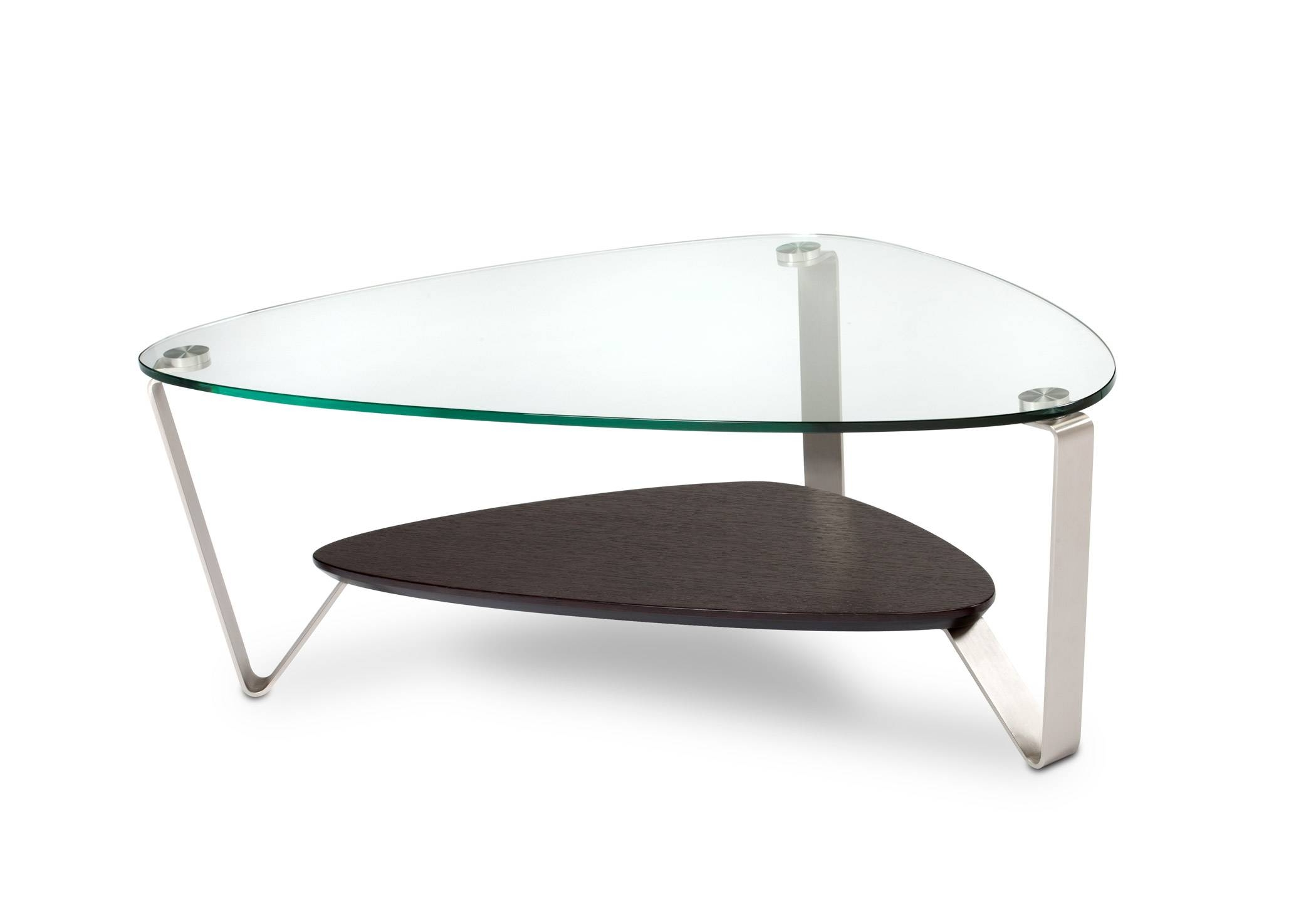 Coffee Tables : Mesmerizing Dino Small Coffee Table Triangular Bdi inside Oval Glass Tv Stands (Image 3 of 15)