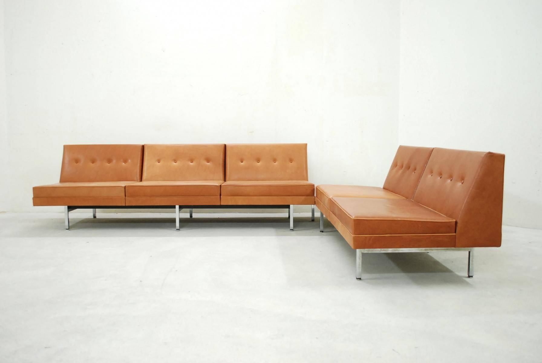 Cognac Leather Modular Sofa Setgeorge Nelson For Herman Miller in George Nelson Sofas (Image 2 of 15)