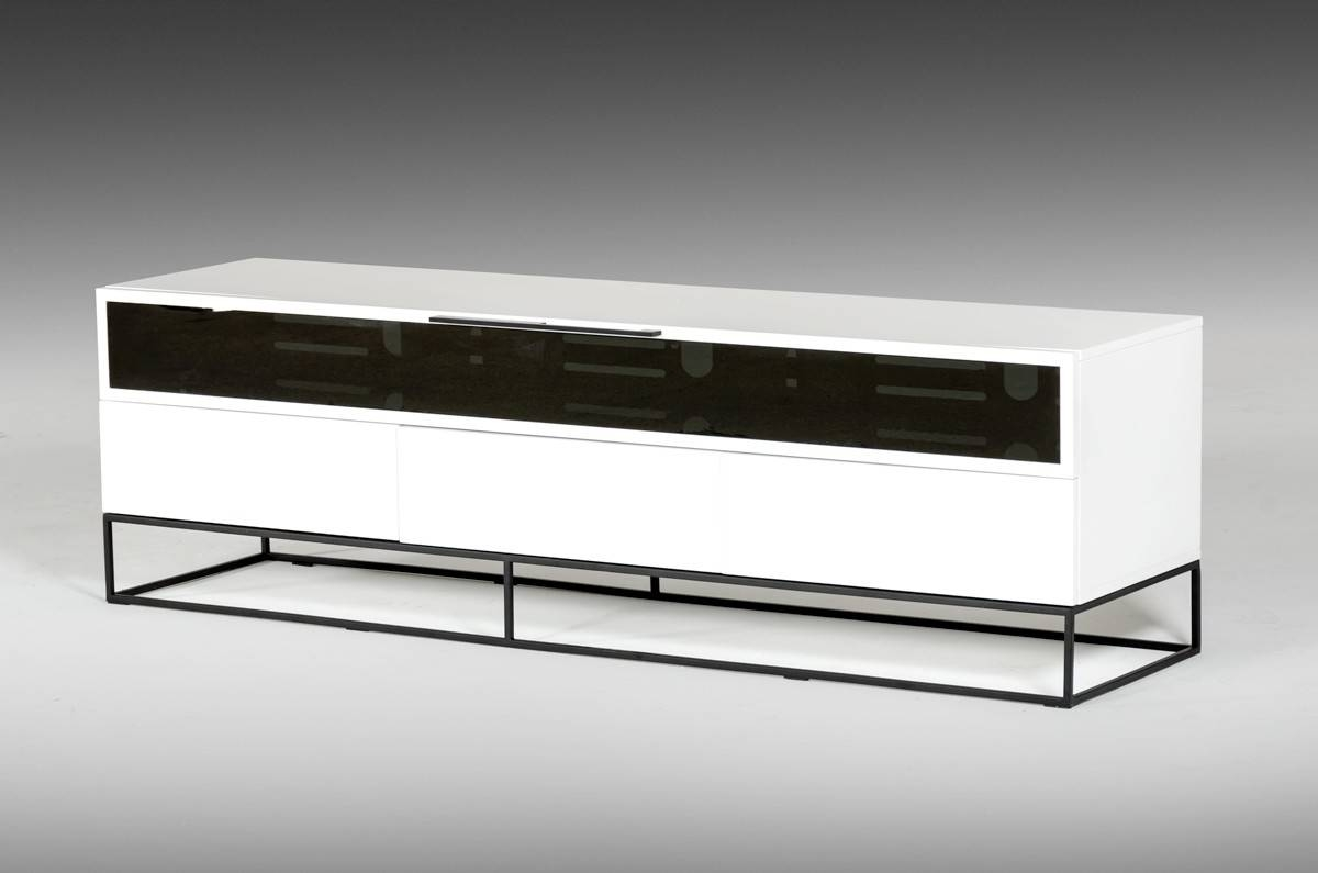 Colby Modern White & Black Tv Stand in Modern Tv Stands (Image 4 of 15)