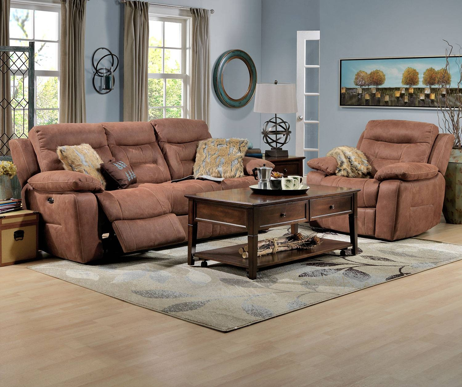Collins Power Reclining Sofa - Hazelnut | Leon's inside Collins Sofas (Image 1 of 15)