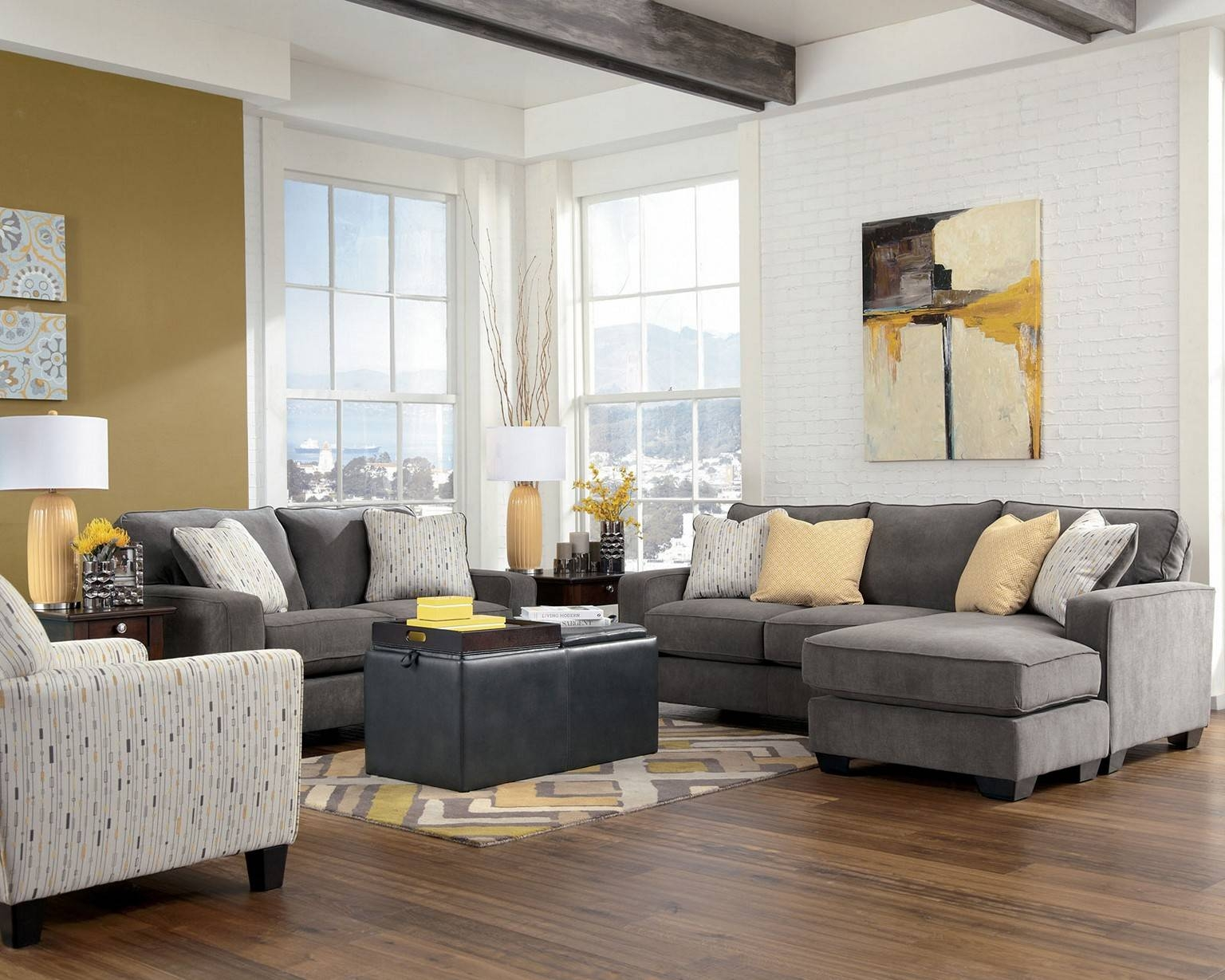 Colour Scheme For Living Room With Grey Sofa | Centerfieldbar throughout Living Room With Grey Sofas (Image 7 of 15)