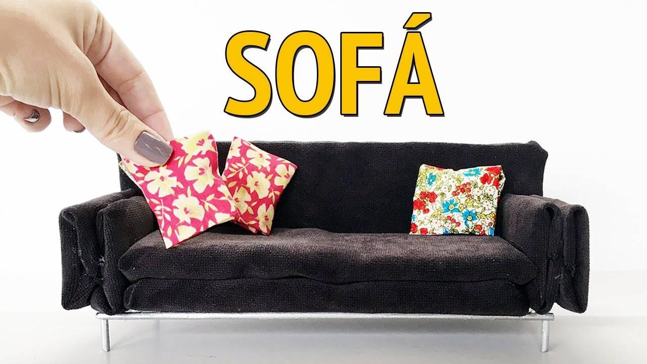 Como Fazer Um Sofá Para Barbie E Outras Bonecas! - Youtube with regard to Barbie Sofas (Image 8 of 15)