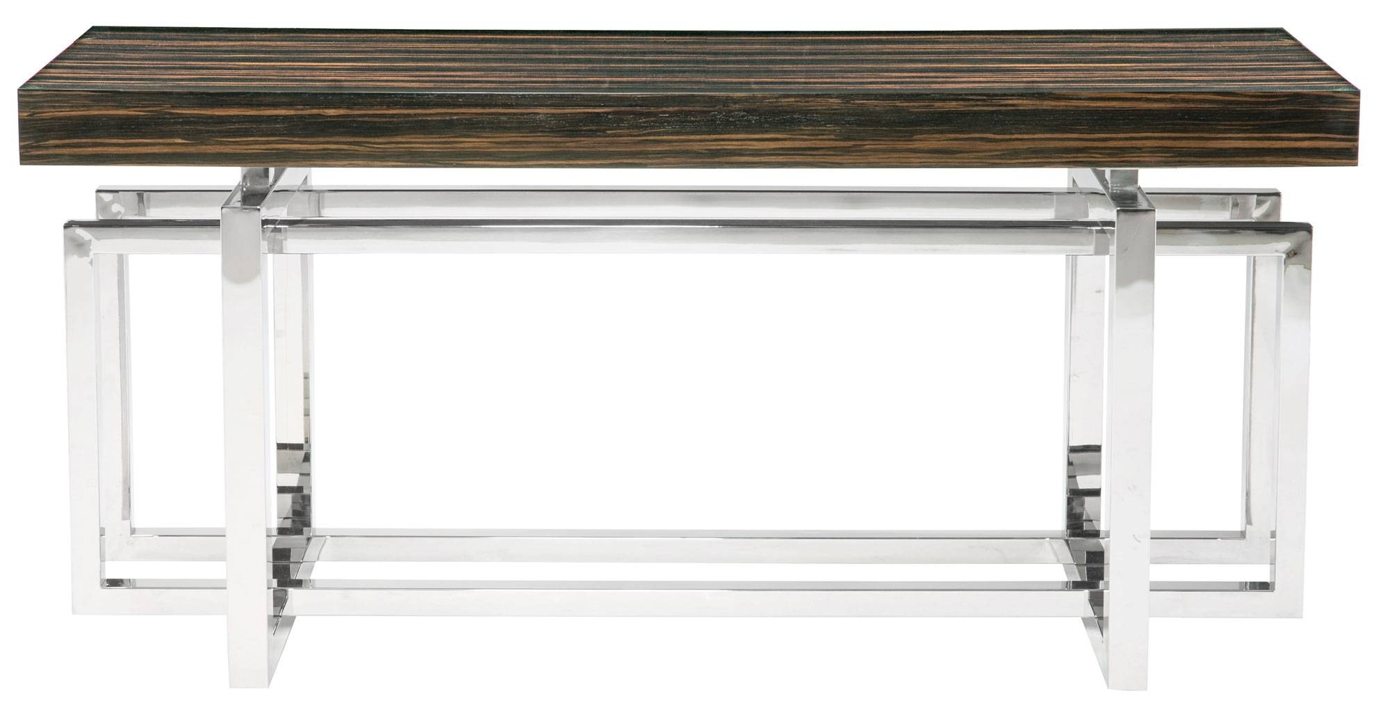 Console Table Wood Top And Metal Base | Bernhardt pertaining to Bernhardt Console Tables (Image 3 of 15)
