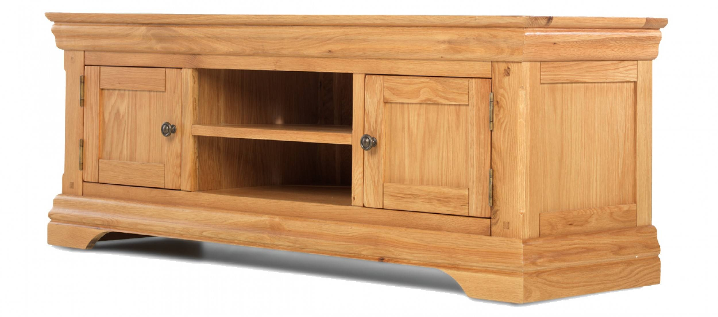 Constance Oak Plasma Tv Stand | Quercus Living With Regard To Plasma Tv Stands (View 7 of 15)