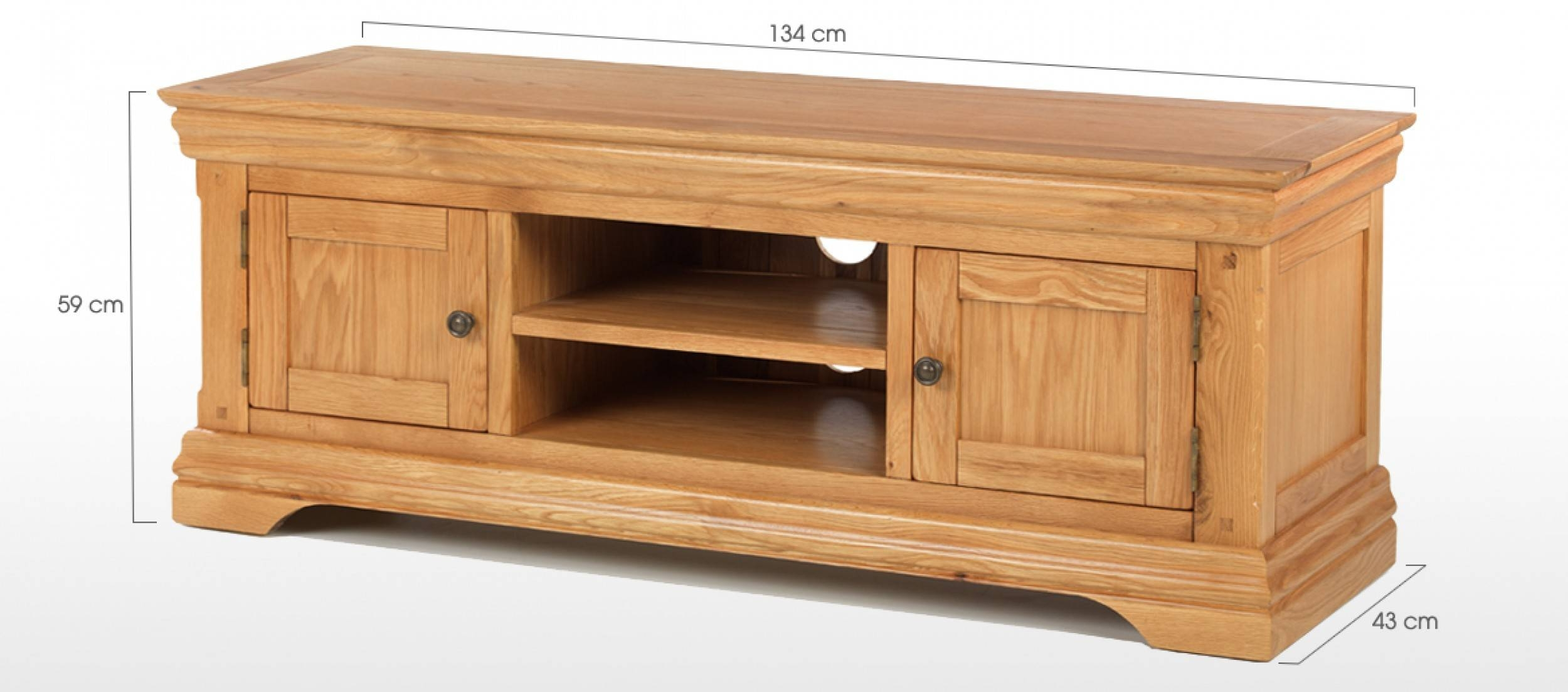 Constance Oak Plasma Tv Stand | Quercus Living With Regard To Tv Stands In Oak (View 9 of 15)