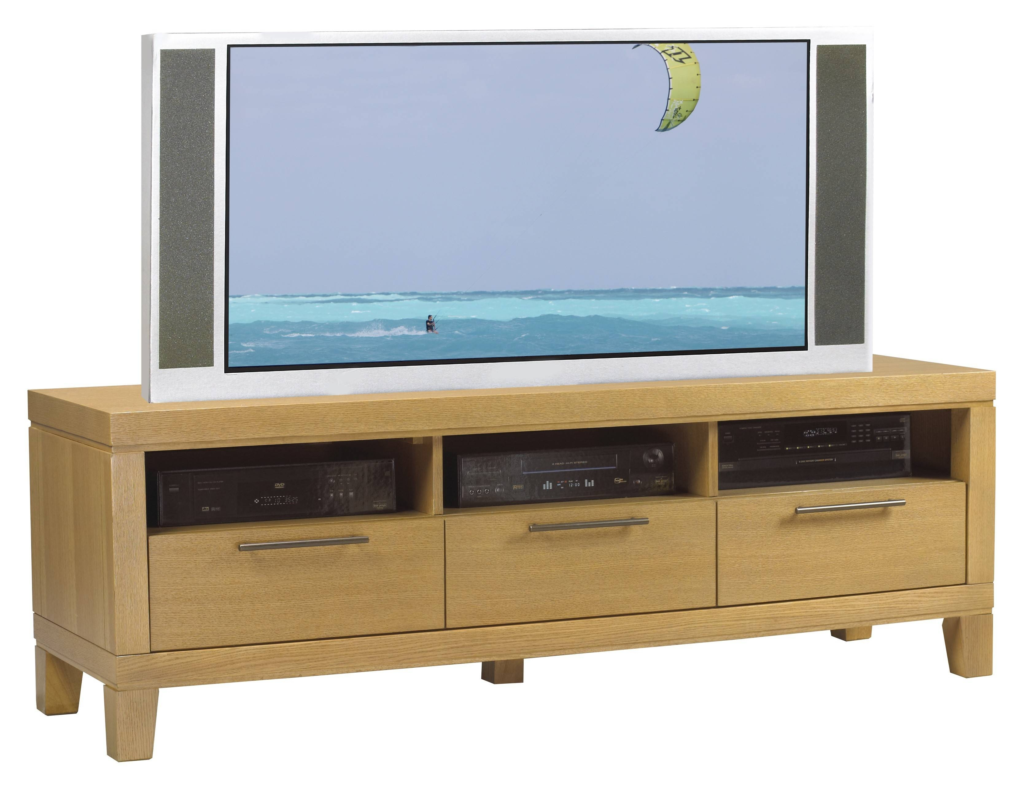 Contemporary Blond Oak Tv Stand In Contemporary Oak Tv Stands (View 11 of 15)