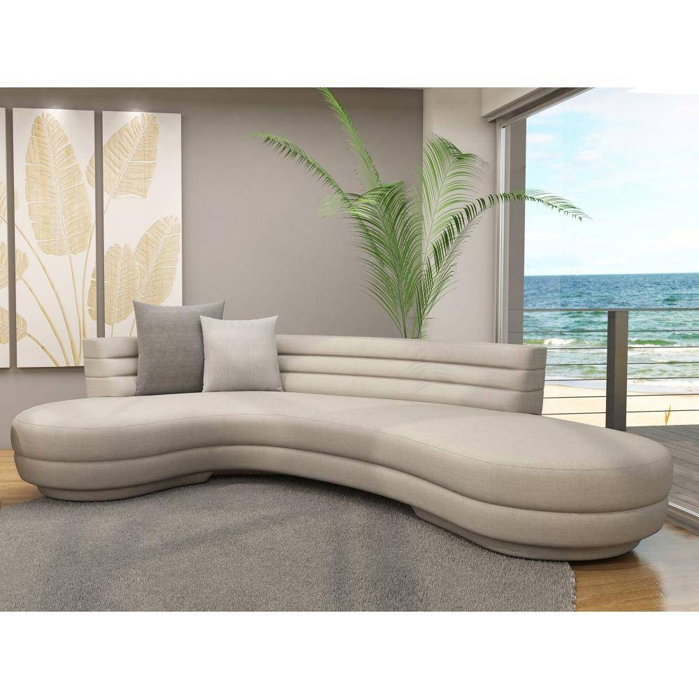 Contemporary Curved Sofa   Centerfieldbar with Small Curved Sectional Sofas (Image 1 of 15)