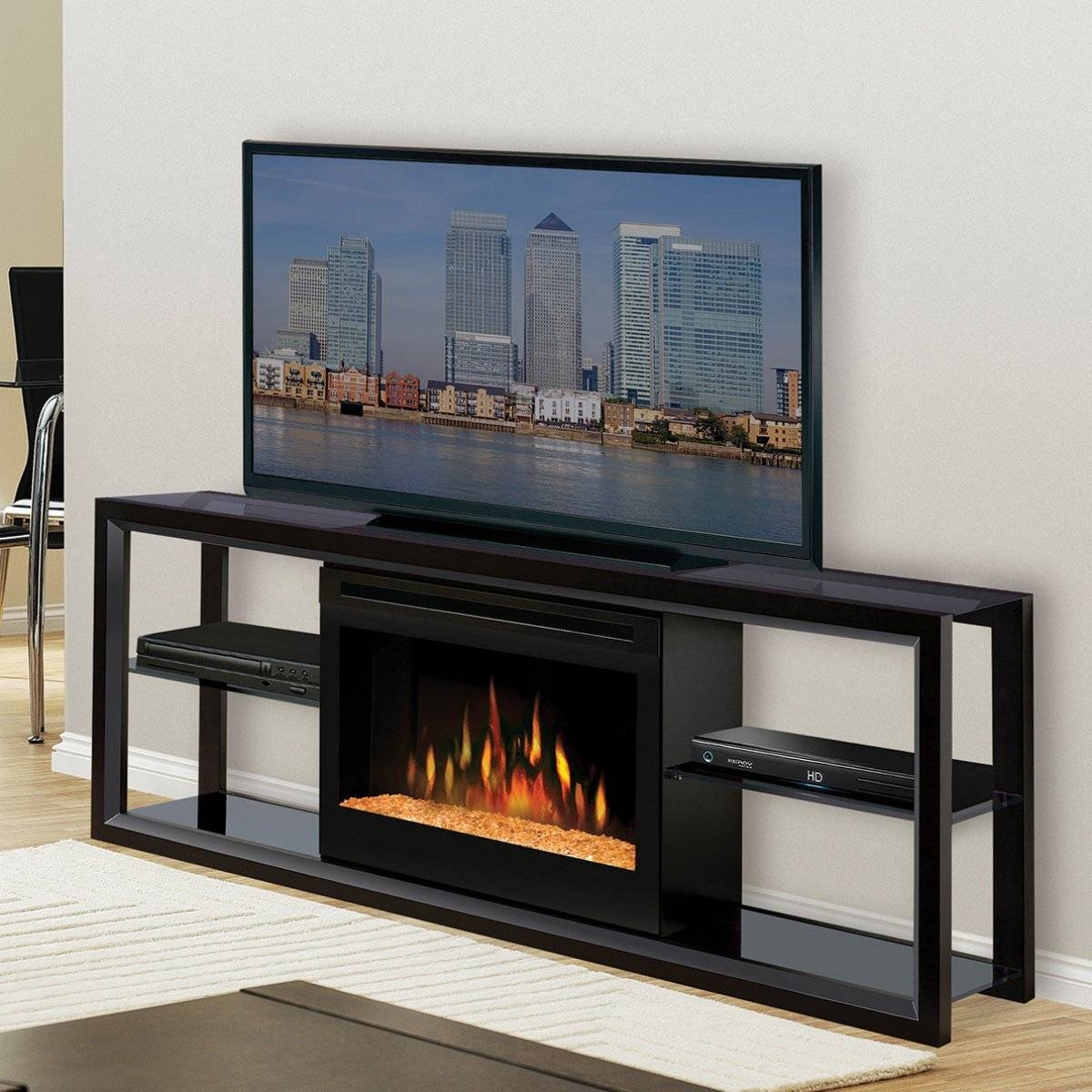 Contemporary Electric Fireplace Tv Stand : Modern Contemporary for All Modern Tv Stands (Image 1 of 15)