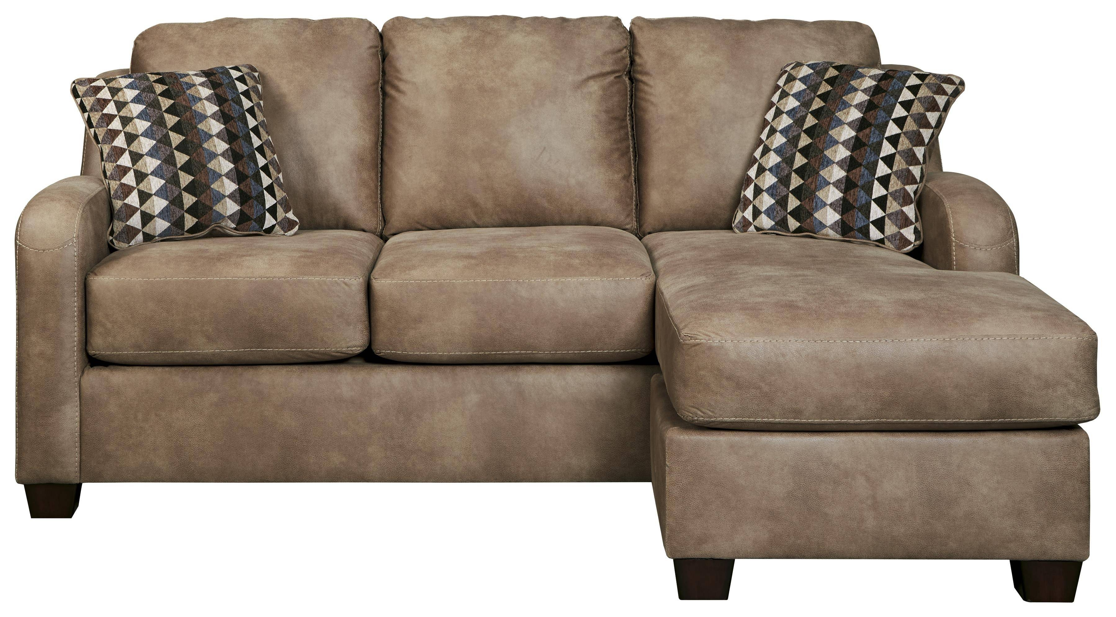 Contemporary Faux Leather Sofa Chaisebenchcraft | Wolf And with Benchcraft Leather Sofas (Image 7 of 15)
