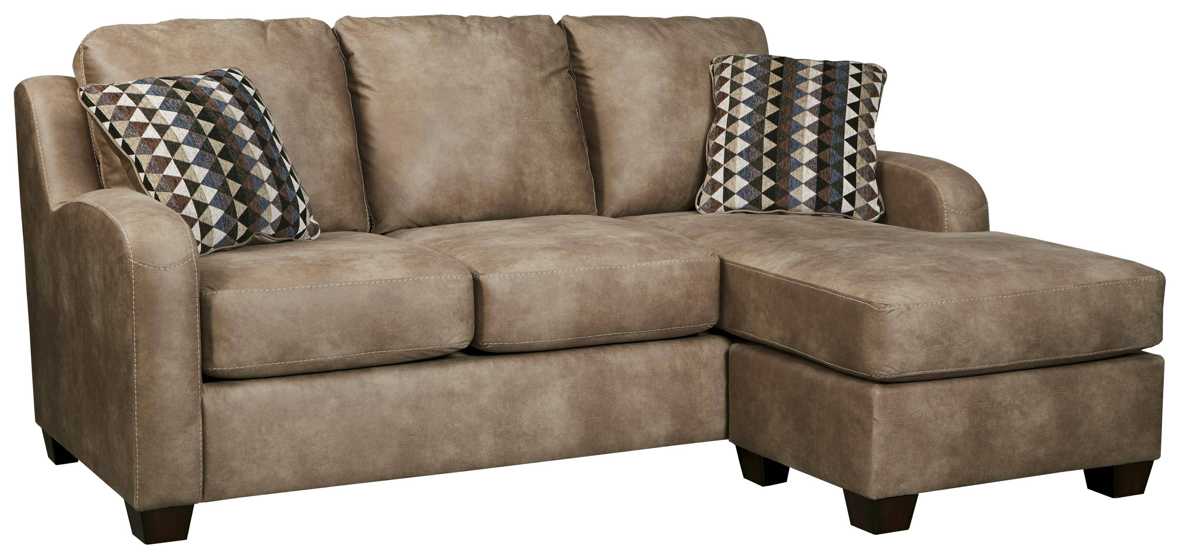 Contemporary Faux Leather Sofa Chaisebenchcraft | Wolf And with regard to Benchcraft Leather Sofas (Image 8 of 15)