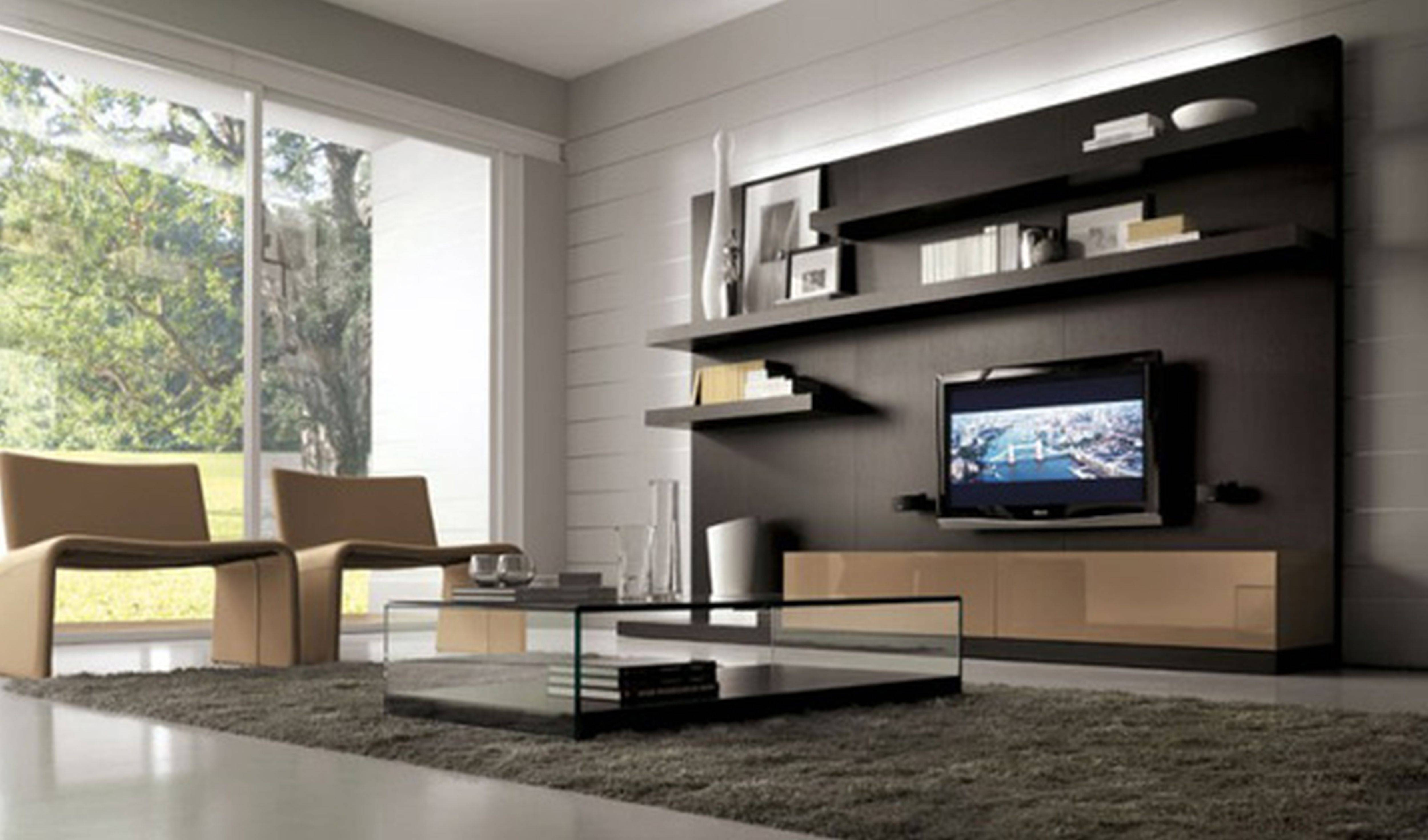 Contemporary Living Room Ideas Wall Mounting Tv Stand Kitchen throughout Modern Wall Mount Tv Stands (Image 4 of 15)