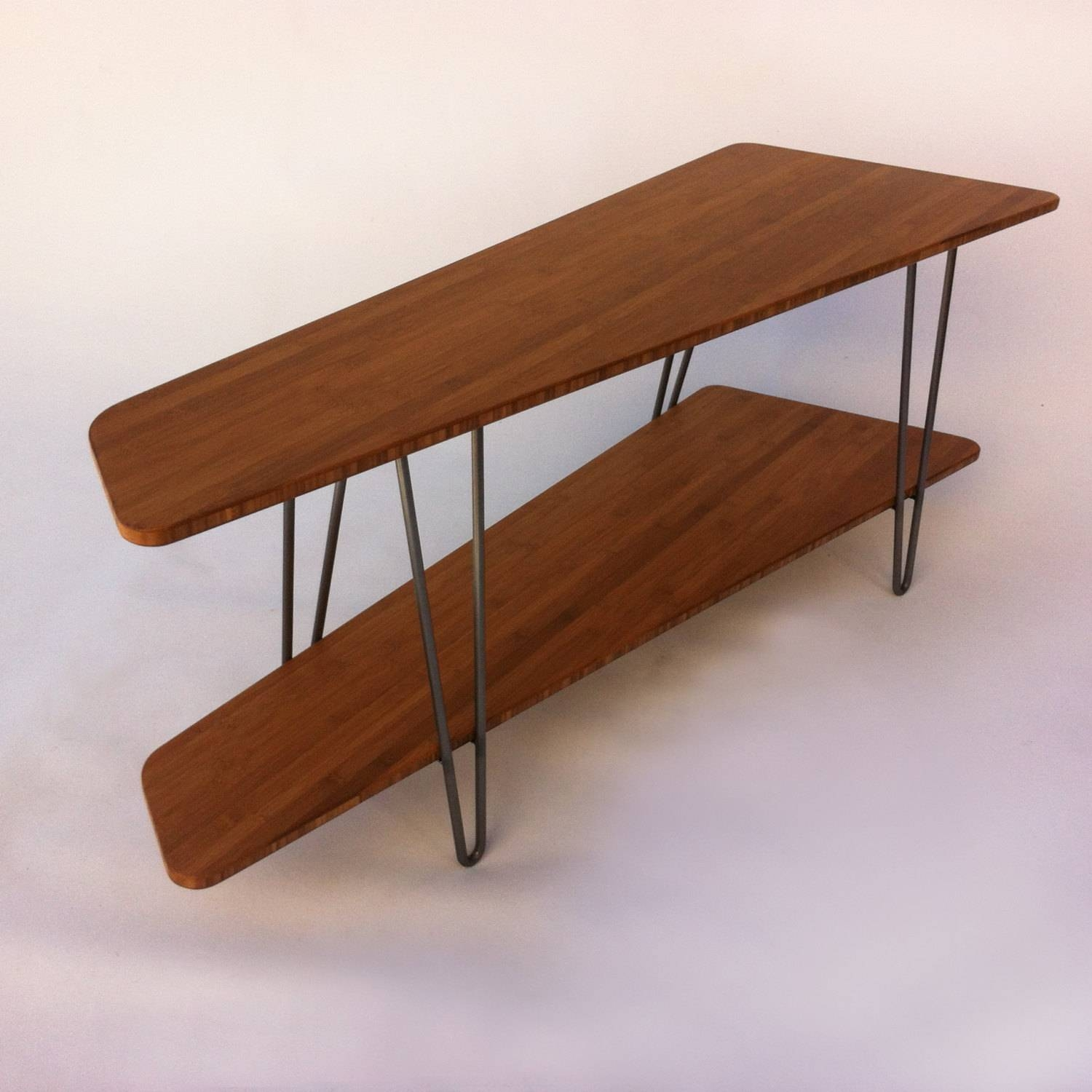 Contemporary Mid Century Modern Tv Stand Media Console With for Hairpin Leg Tv Stands (Image 3 of 15)