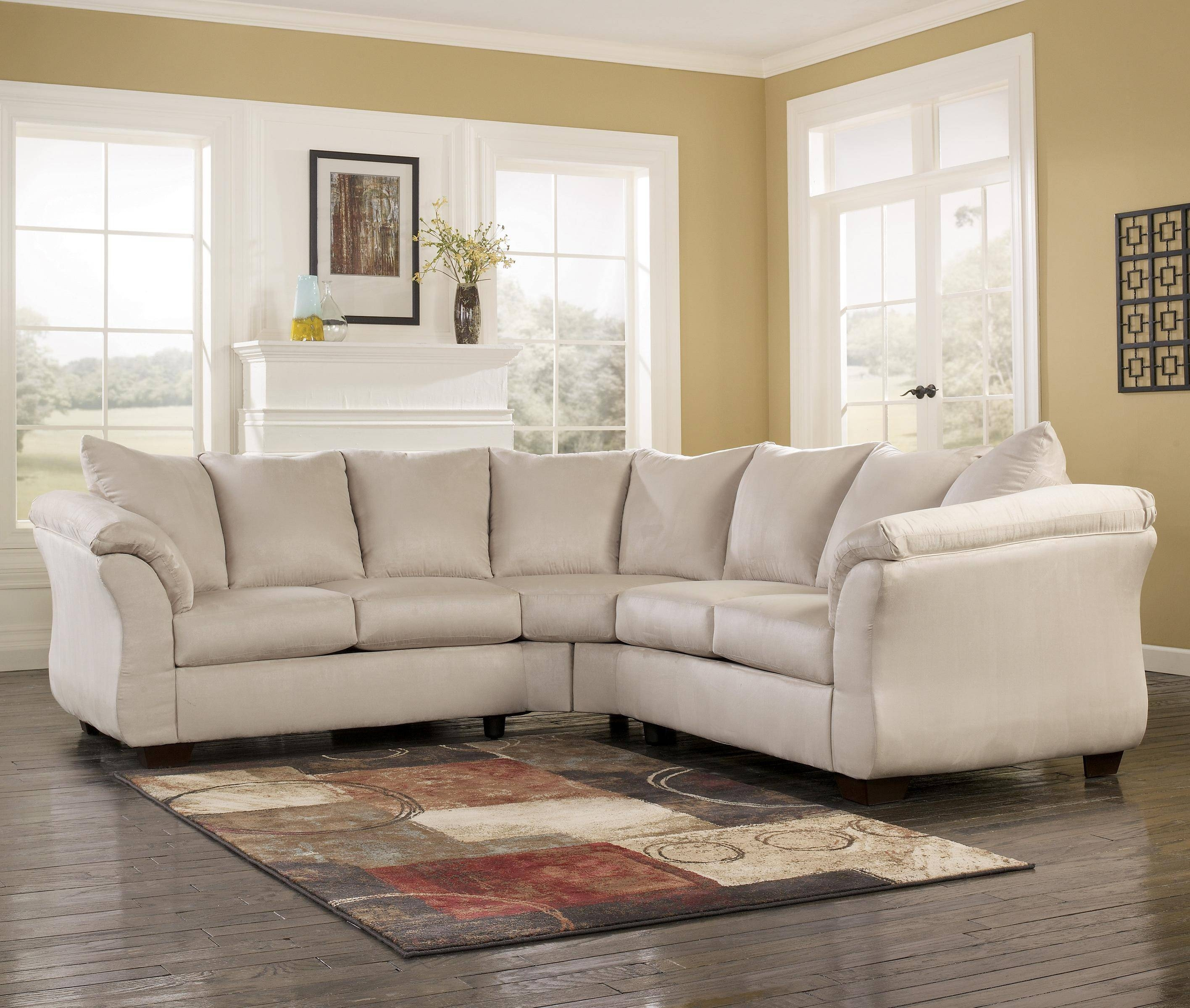 Contemporary Sectional Sofa With Sweeping Pillow Armssignature with regard to Signature Design Sectional Sofas (Image 6 of 15)