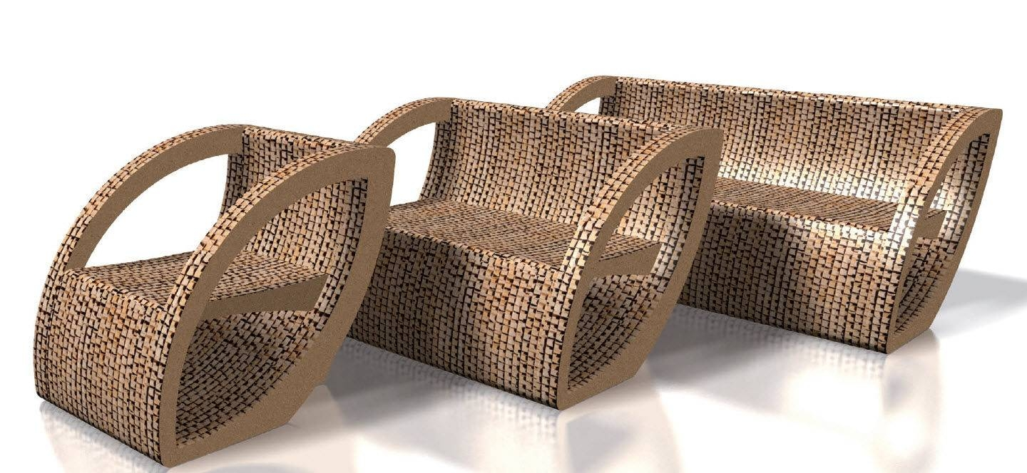Contemporary Sofa / Cardboard / 2-Seater / Brown - Fogliapaolo for Cardboard Sofas (Image 11 of 15)