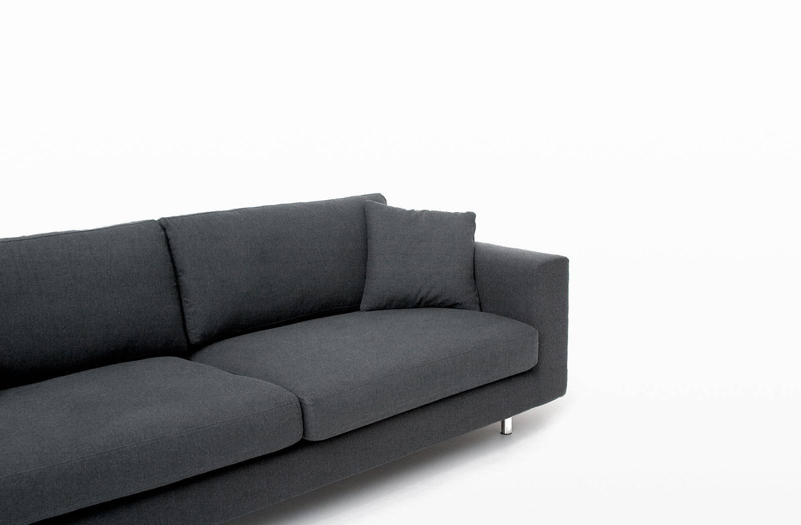 Contemporary Sofa / Fabric / 2-Seater / Black - Wide Arm - Bensen intended for Bensen Sofas (Image 5 of 15)