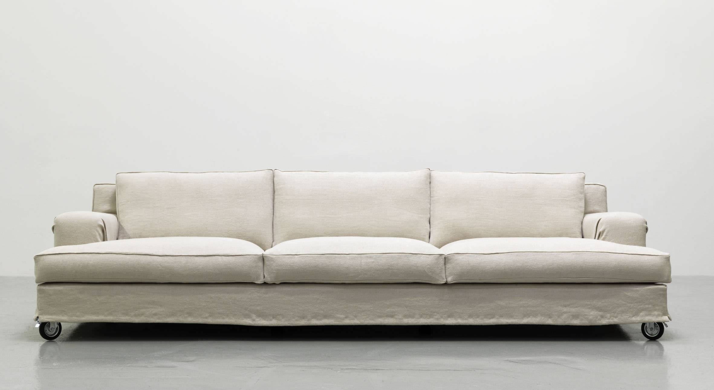 Contemporary Sofa / Fabric / 3-Seater / On Casters - Aberdeen for Casters Sofas (Image 5 of 15)