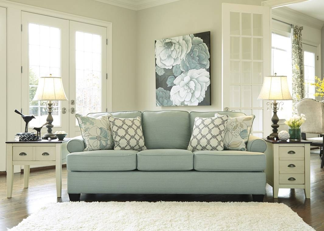 Contemporary Sofa In Seafoam for Seafoam Green Couches (Image 2 of 15)