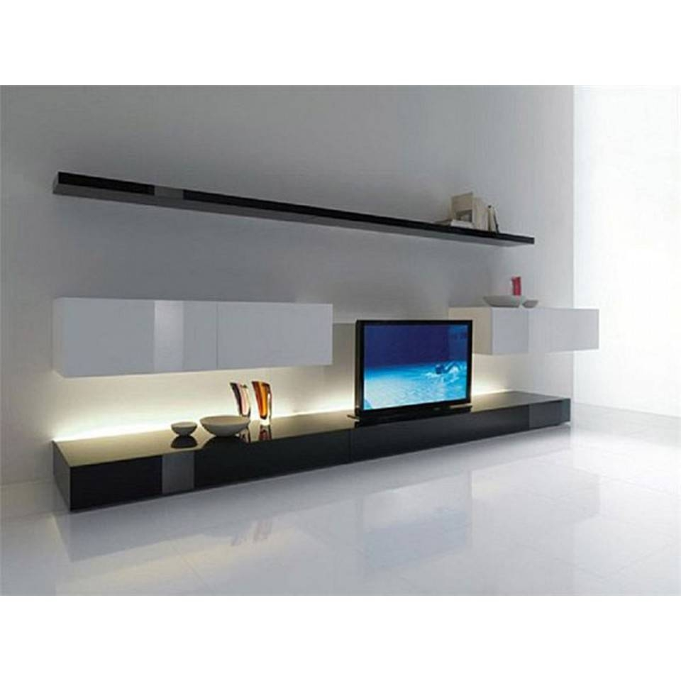 & Contemporary Tv Cabinet Design Tc114 in Long White Tv Cabinets (Image 1 of 15)