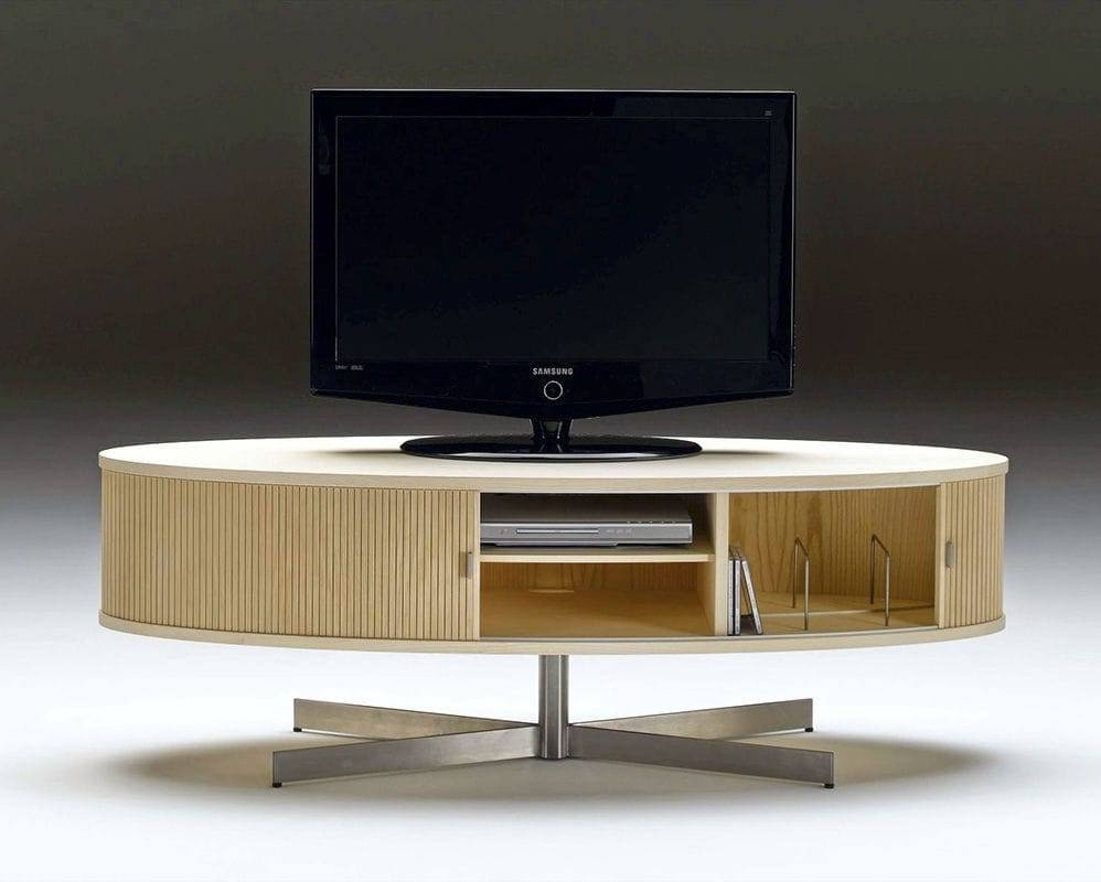Contemporary Tv Cabinet / Oak / Walnut / Ash - Ak 1350Nissen with Contemporary Oak Tv Cabinets (Image 5 of 15)