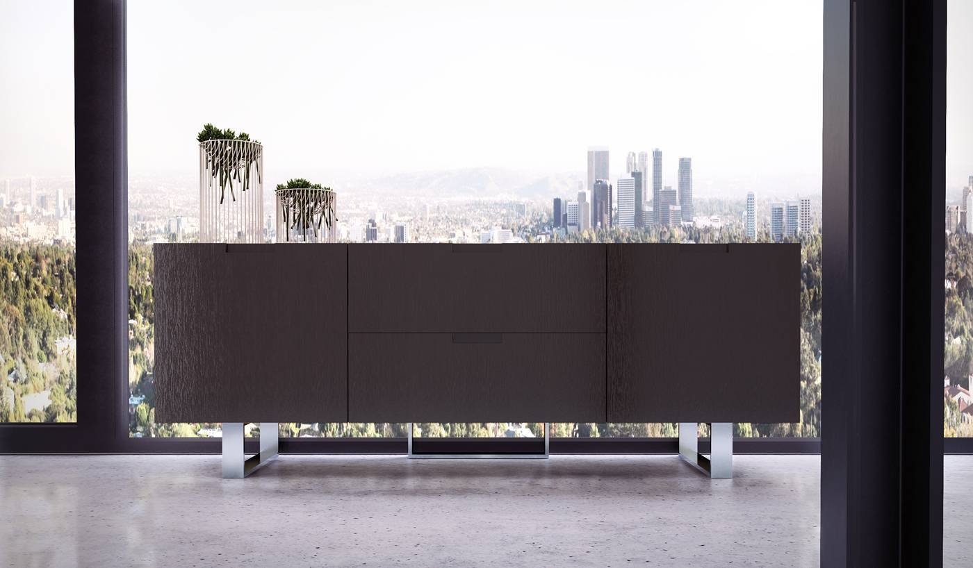 Contemporary Tv Stand In Wenge Walnut Or White Lacquer San Diego for Wenge Tv Cabinets (Image 2 of 15)
