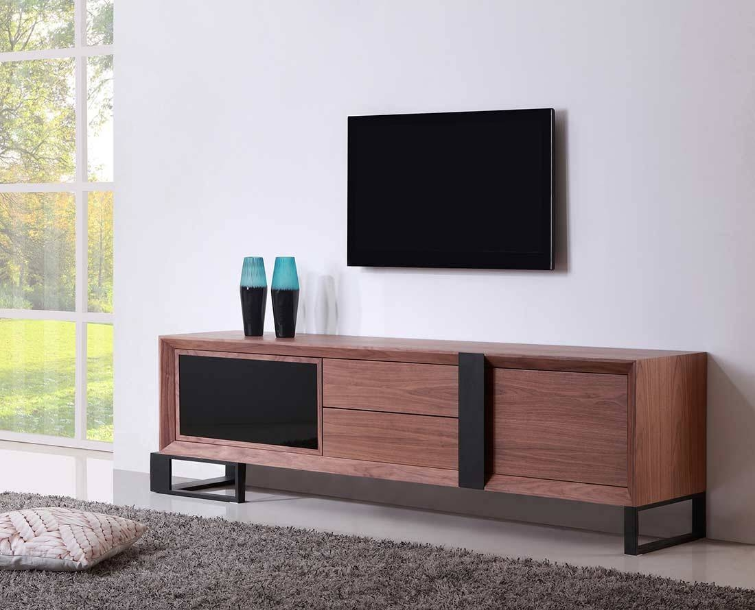 Contemporary Tv Stand With Four Storage Drawers Two Shelves Tv Tv regarding Contemporary Modern Tv Stands (Image 8 of 15)
